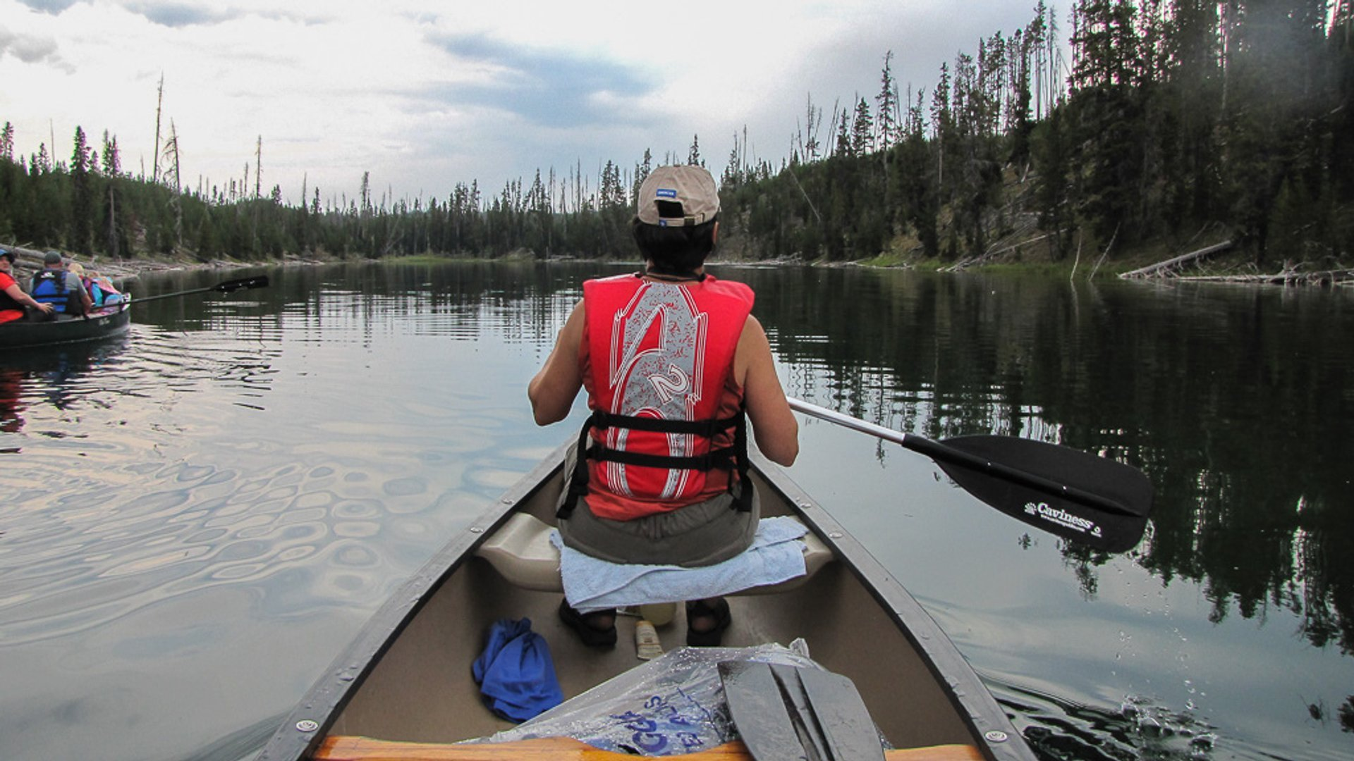 Canoeing on the Lewis River Channel 2019