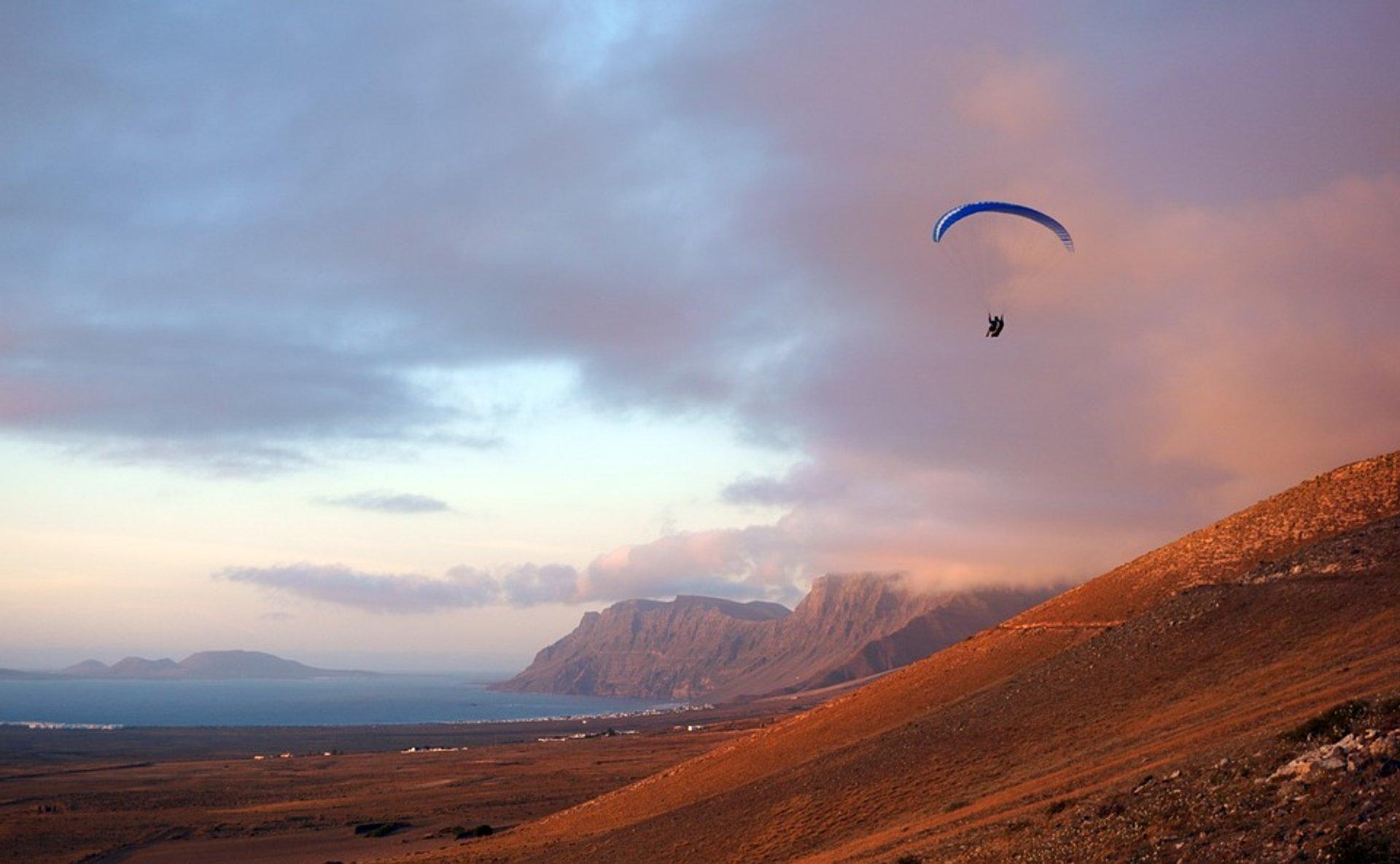 Paragliding over Lanzarote 2019