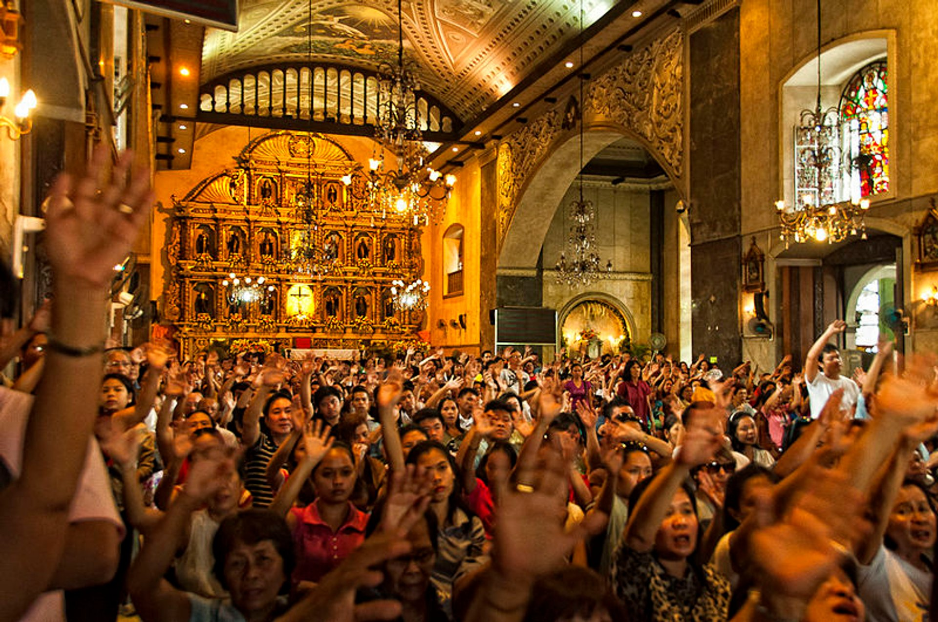 During Sinulog, overwhelming number of devotees utilize the Basilica to attend mass being held at the Pilgrim Center outside 2020