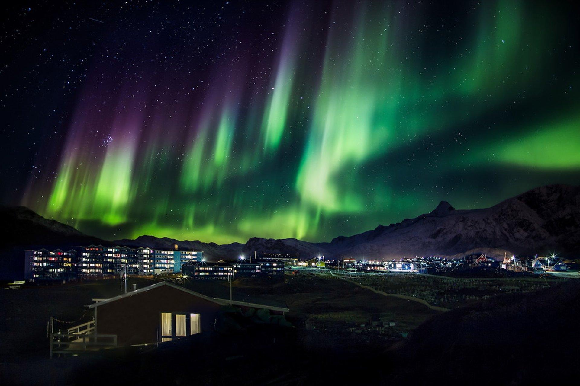 Northern Lights over Sisimiut 2020