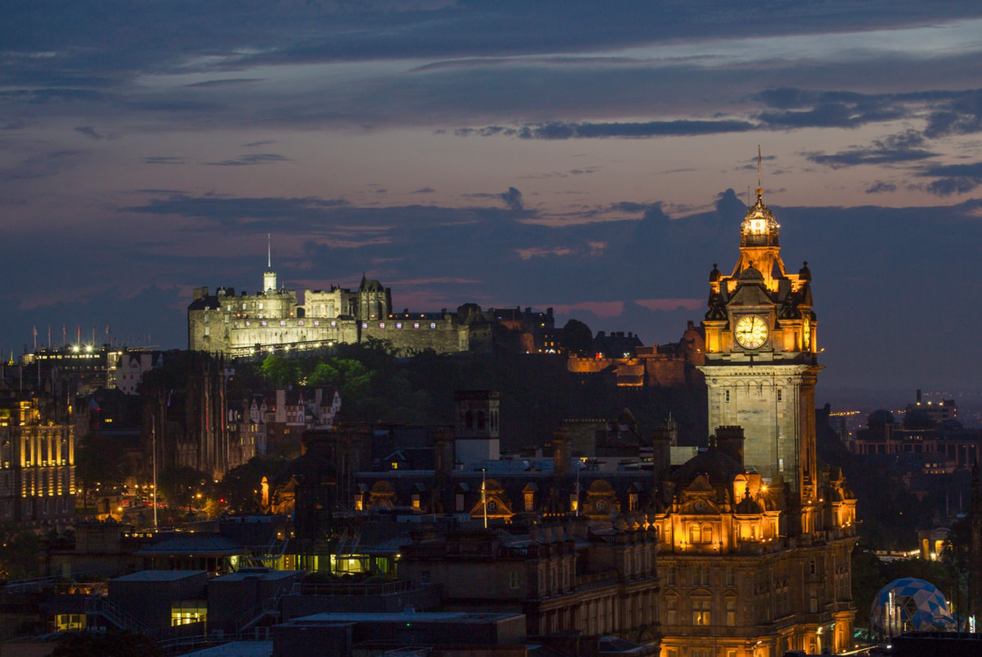 Edinburgh Castle illuminated  2020