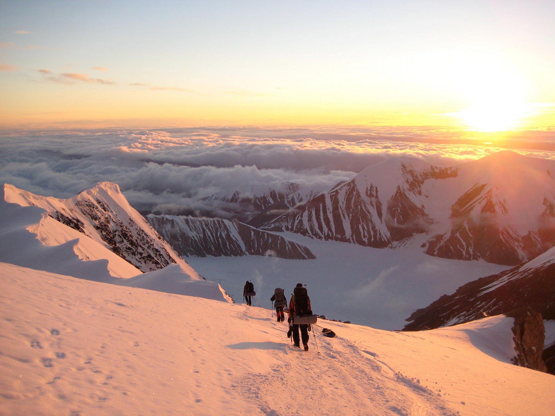Descending Mt. McKinley in Midnight Sun 2020