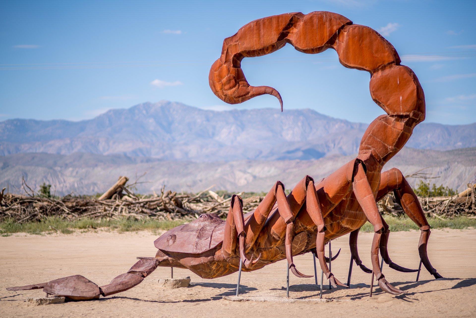 Borrego Springs Metal Sculptures in California - Best Time