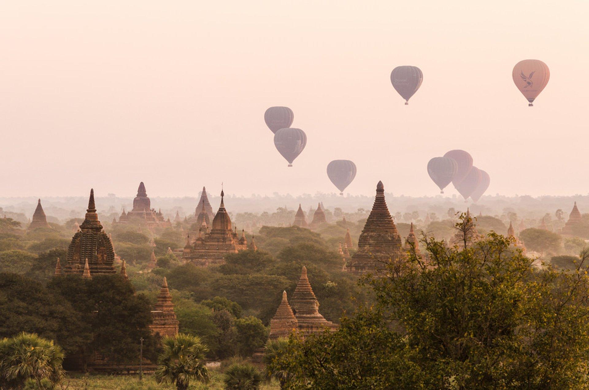 Air Ballooning over Bagan in Myanmar - Best Season