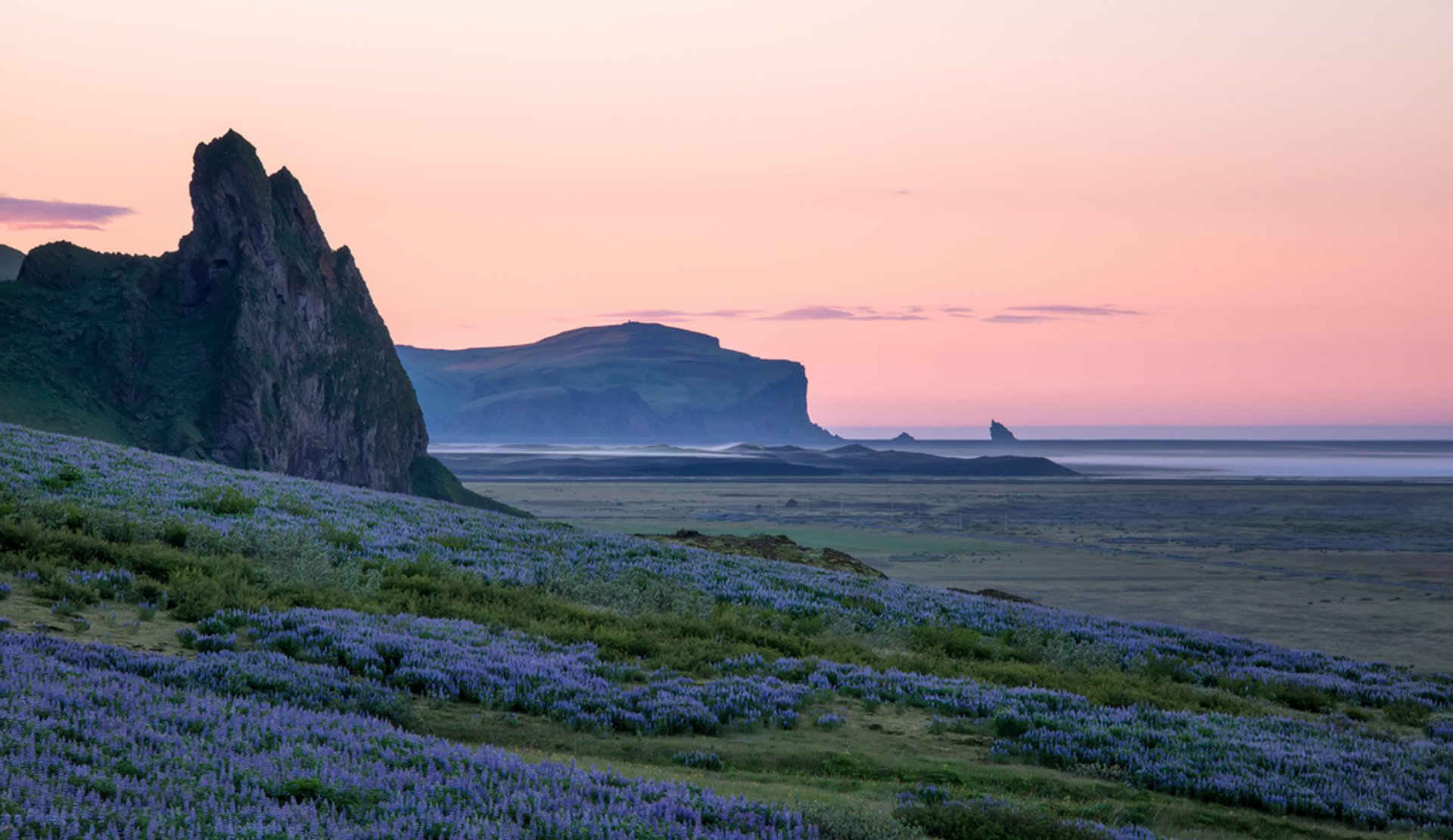 Midnight Coast in Vik, Iceland 2020