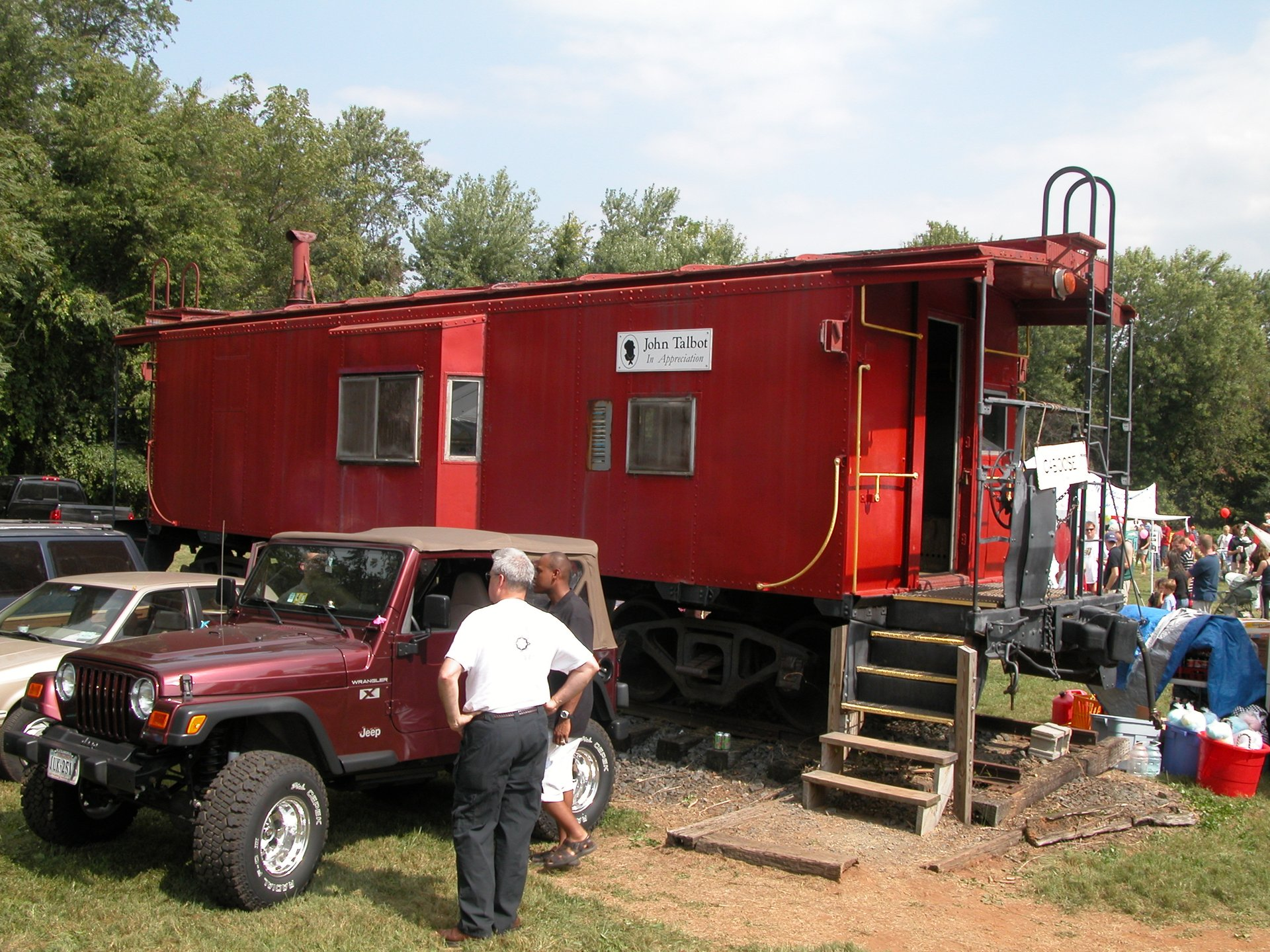 Caboose, a permanent display at the Bluemont Community Center. It was originally owned by the Nickle Plate Road. 2020