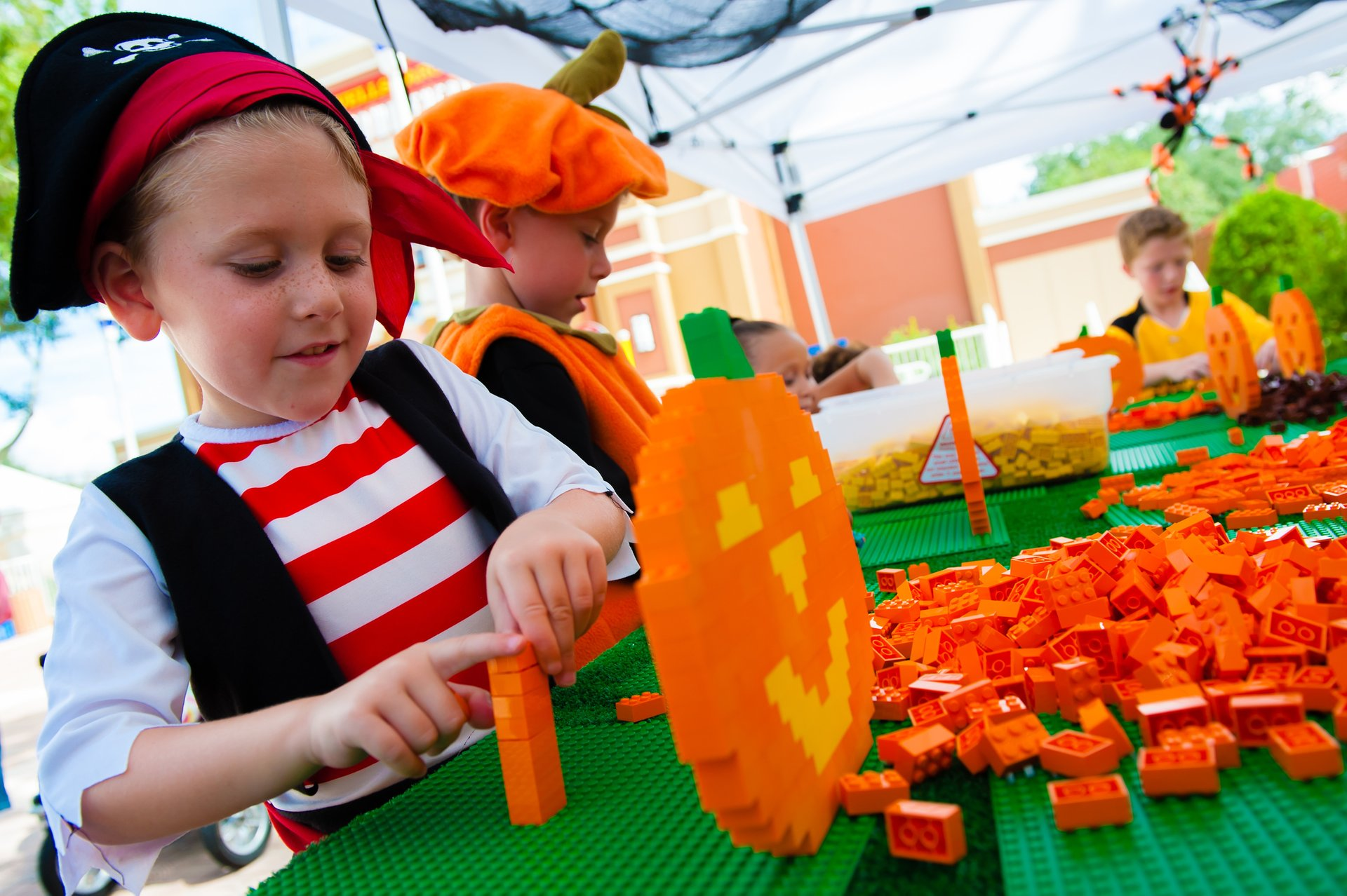 Pumpkin build during Brick-or-Treat at Legoland California 2020