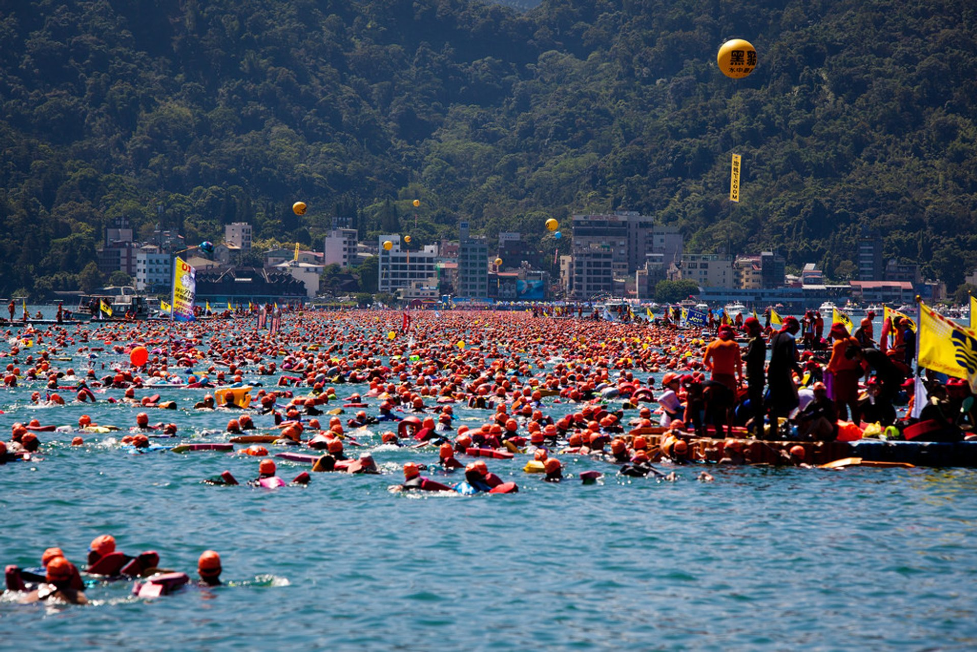 Sun Moon Lake Swimming Carnival in Taiwan - Best Season 2020