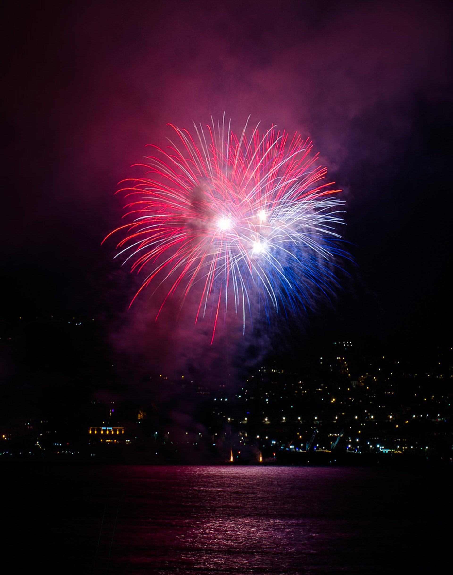 Fireworks for La Fête Nationale, July 14, 2014 in Nice, France 2020