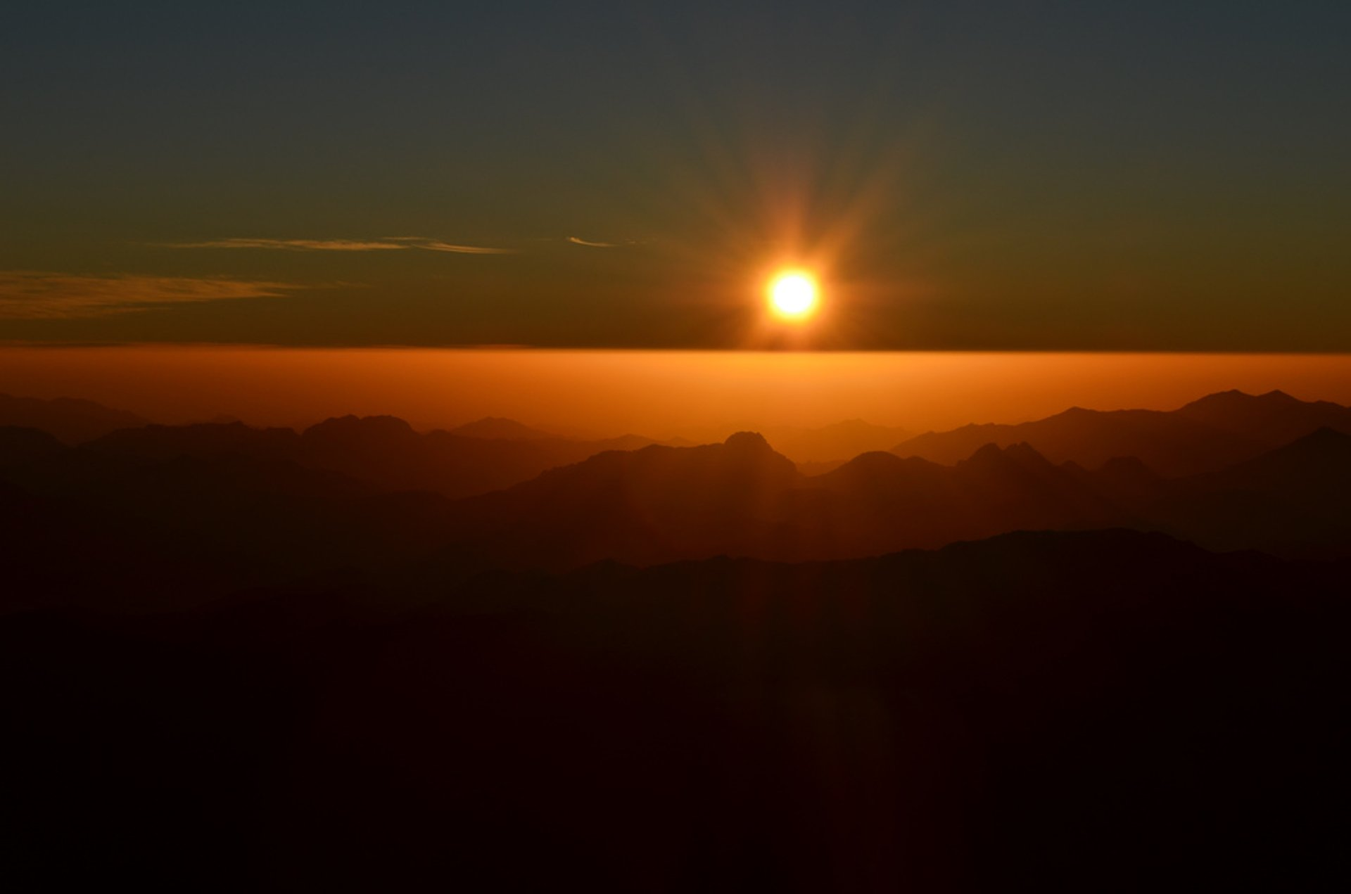 Mount Sinai, the last sunrise of 2012