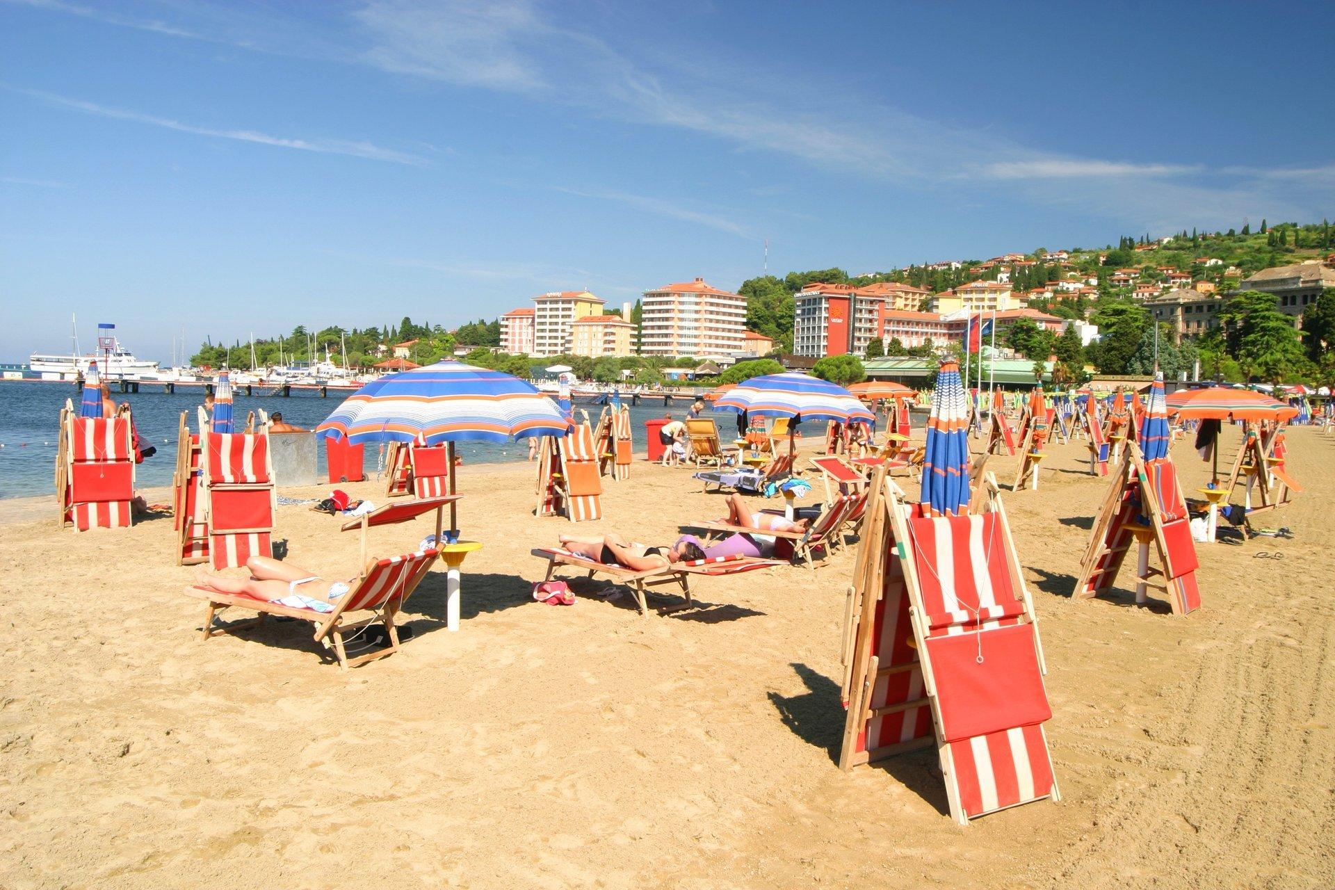 Portorož beach