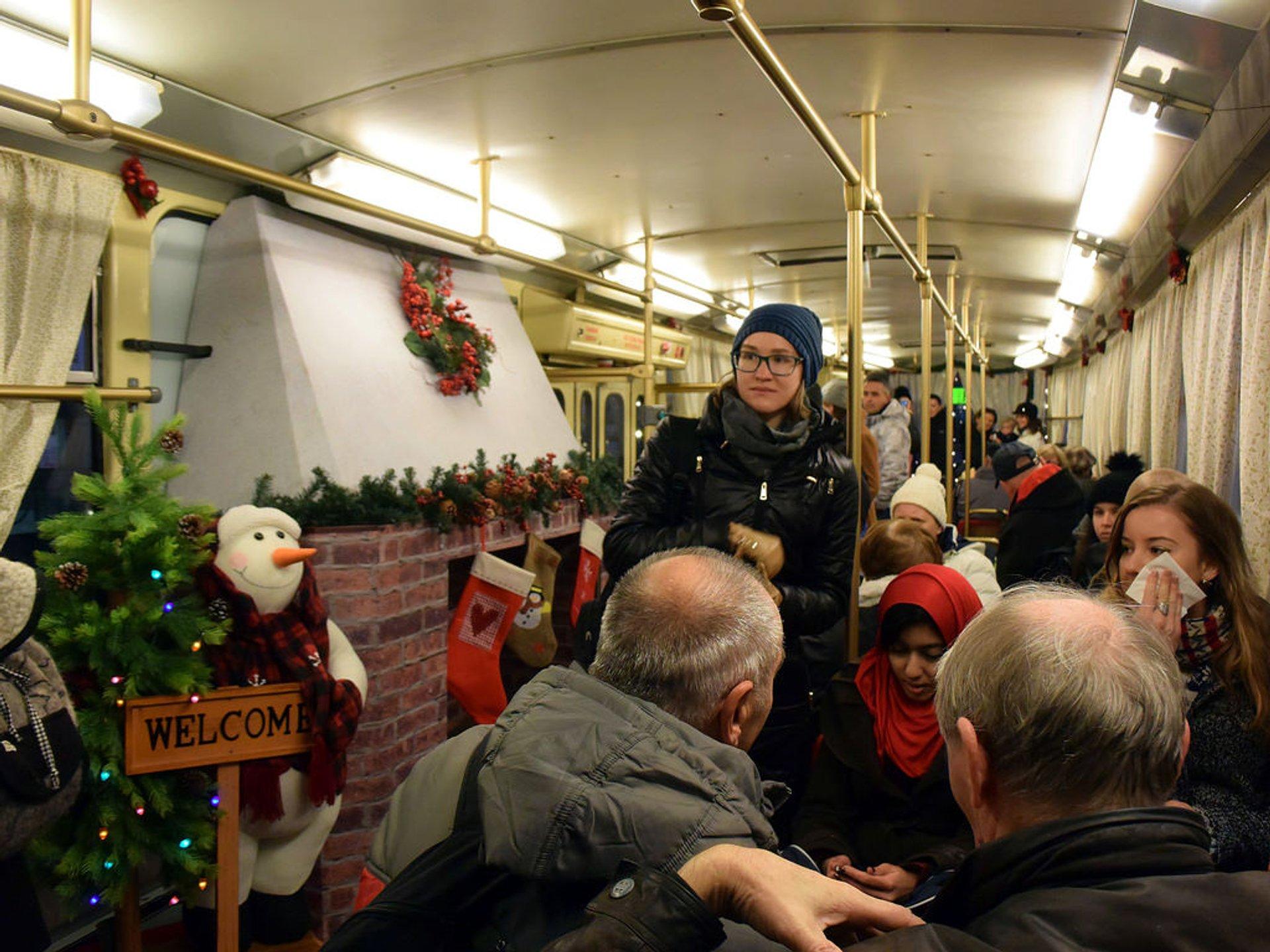 Christmas tram inside 2019