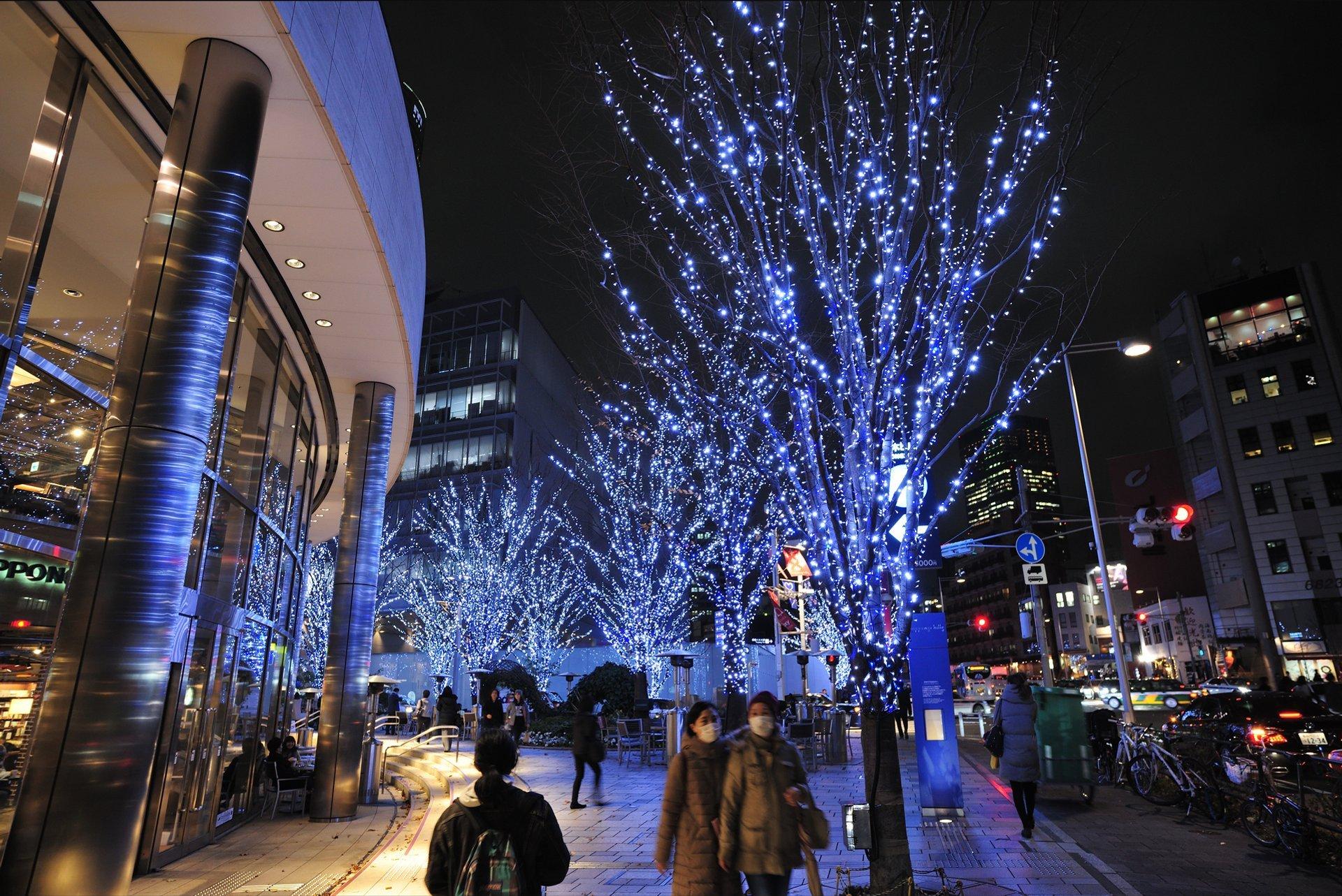 Christmas light show at Roppongi Hills, Tokyo 2020