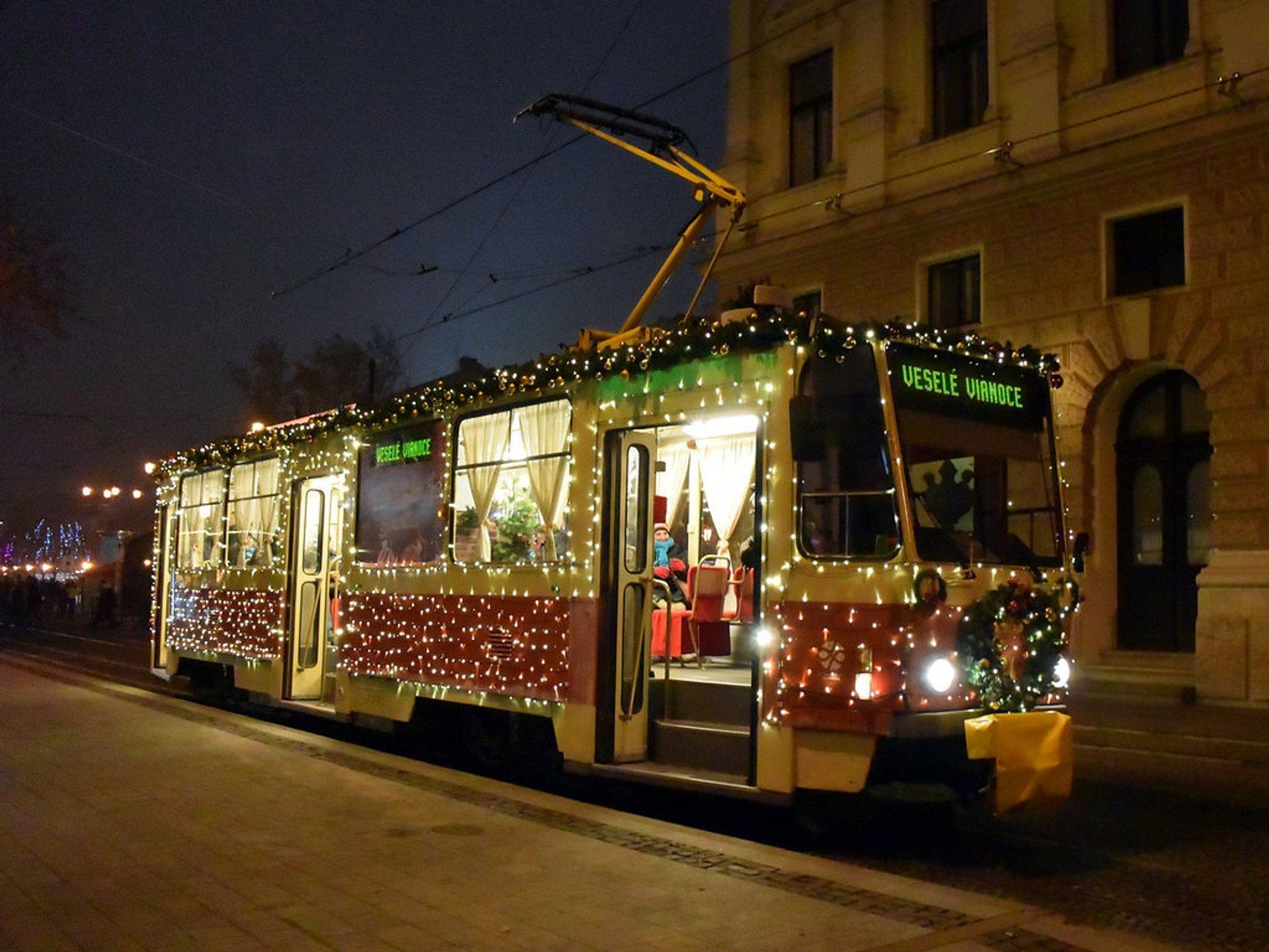 Christmas Tram in Bratislava in Slovakia - Best Season 2019