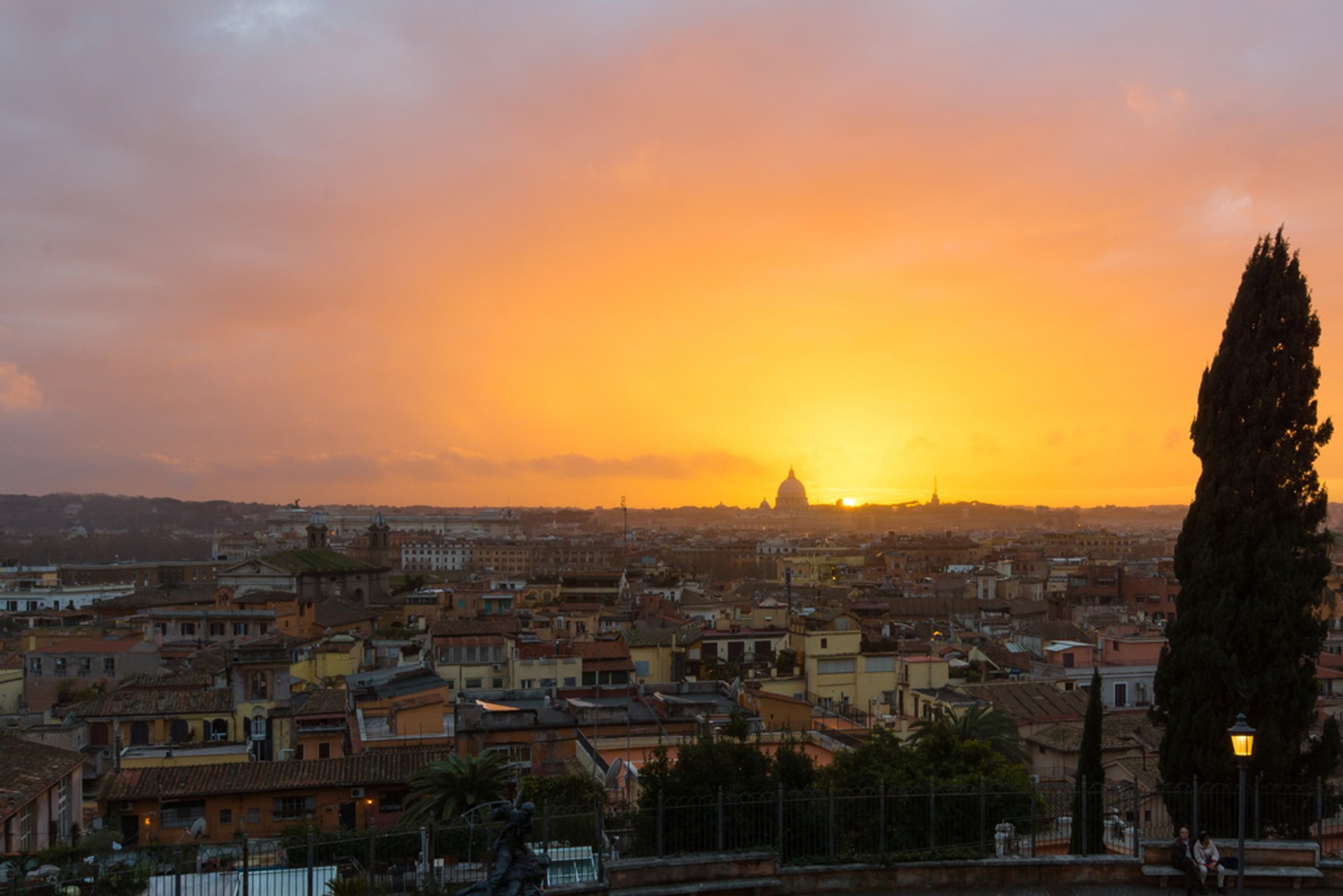 Best time for Winter Sunsets in Rome 2019