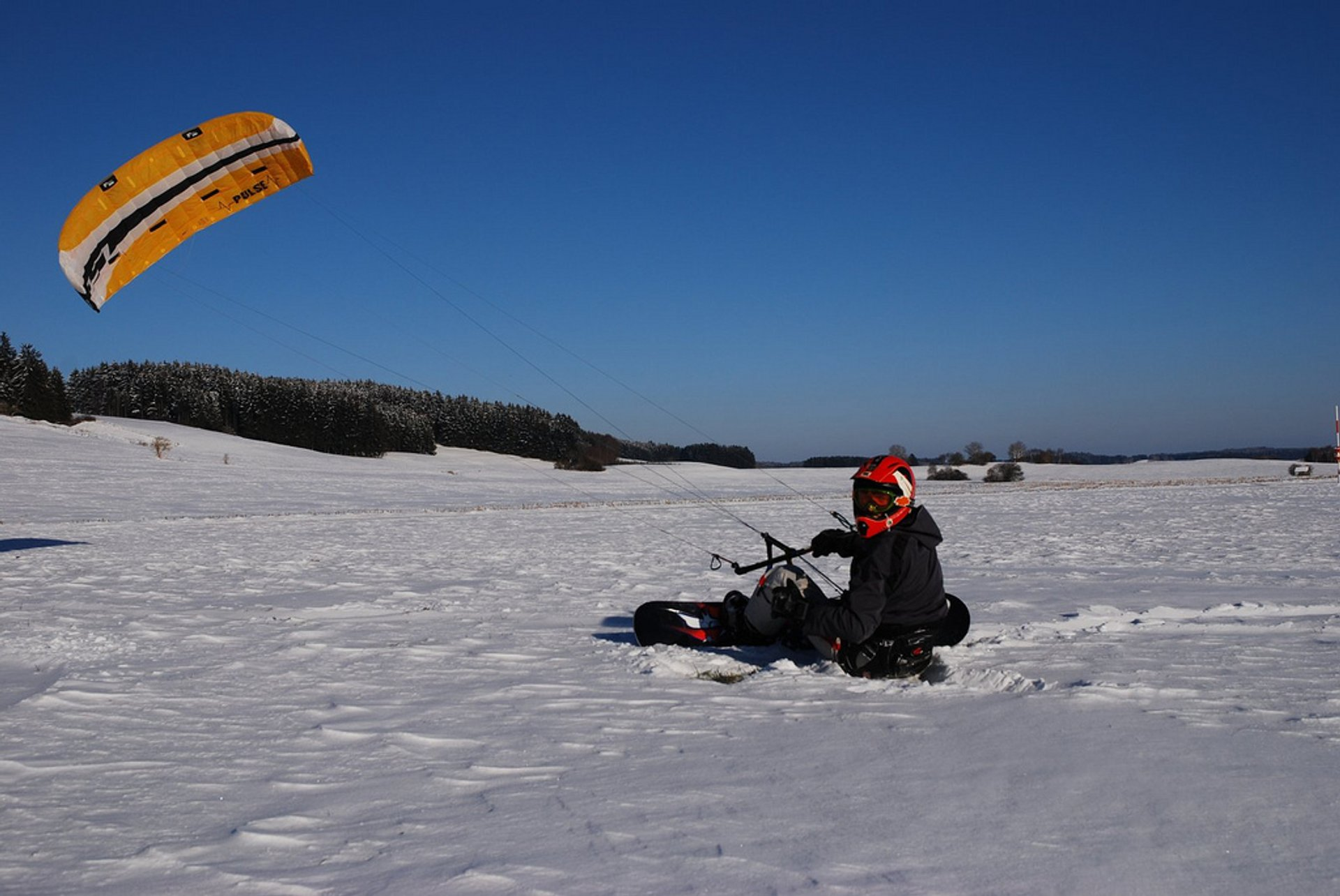 Best time for Snowkiting in Bavaria 2019
