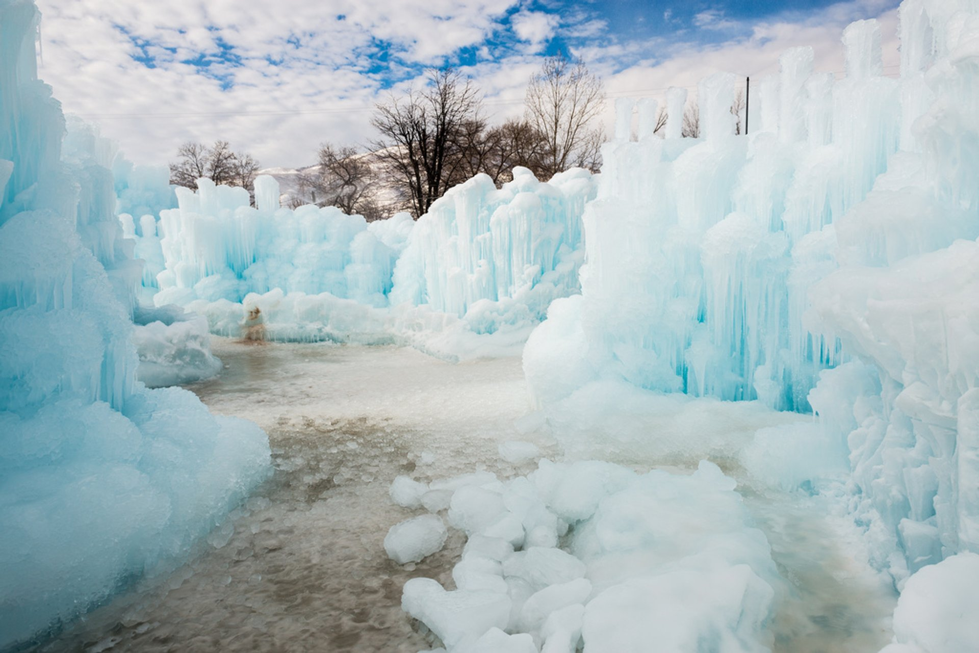 Ice Castle in Utah 2019