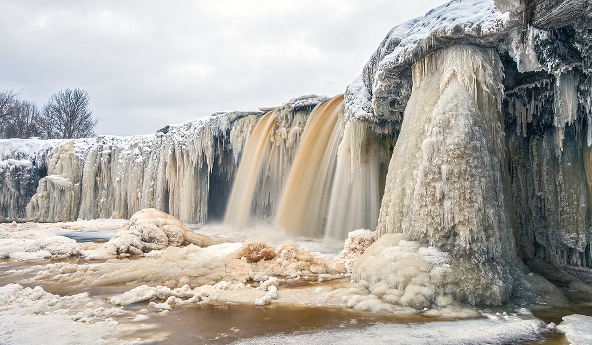 Frozen Waterfalls in Estonia 2020 - Best Time