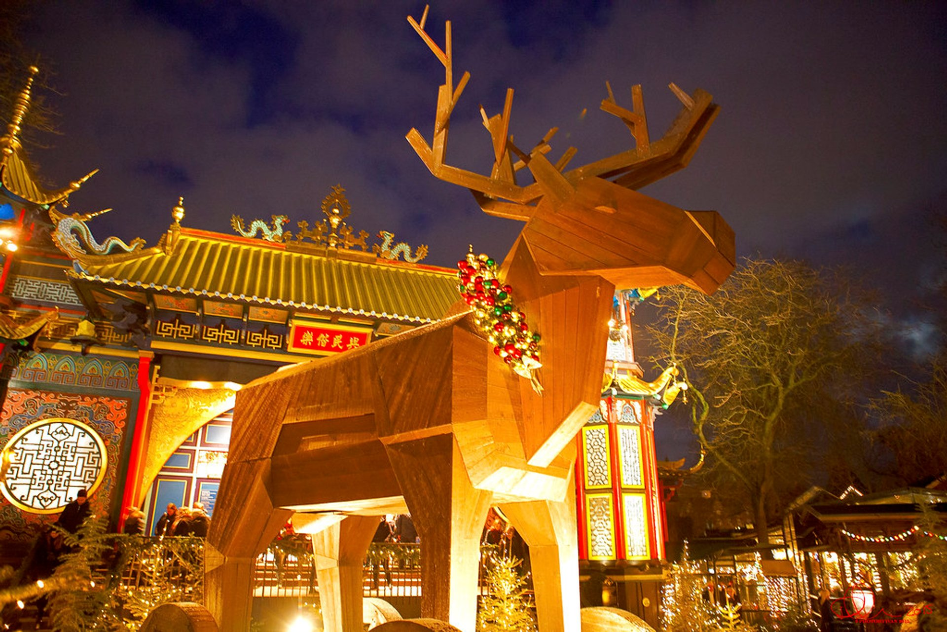 Trojan reindeer in the Tivoli Gardens 2020
