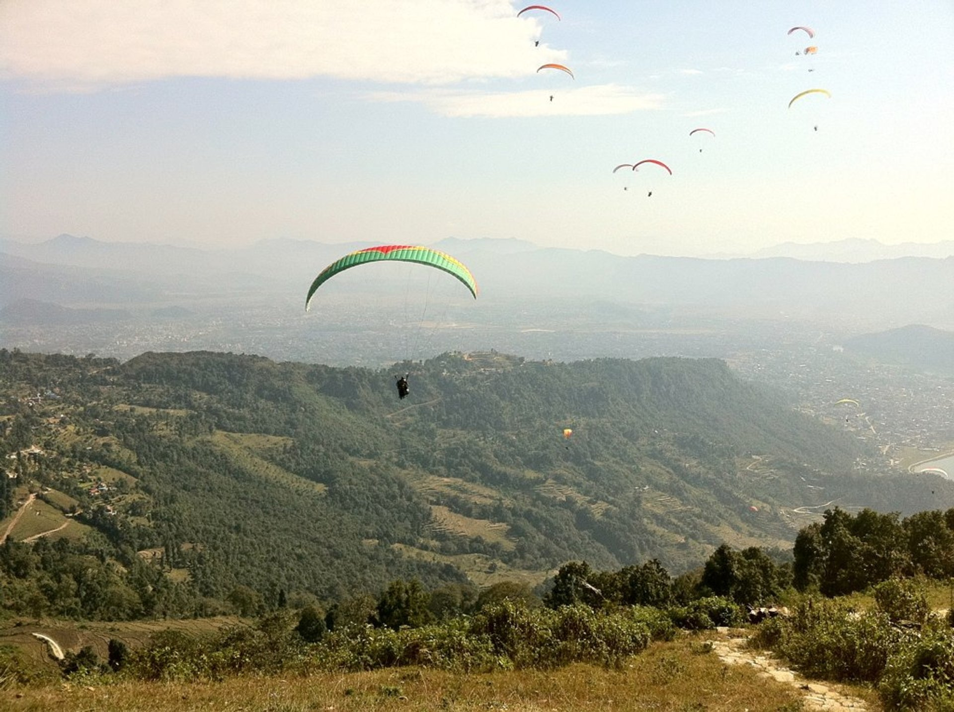 Paragliding over the Pokhara Landscapes in Nepal 2019 - Best Time