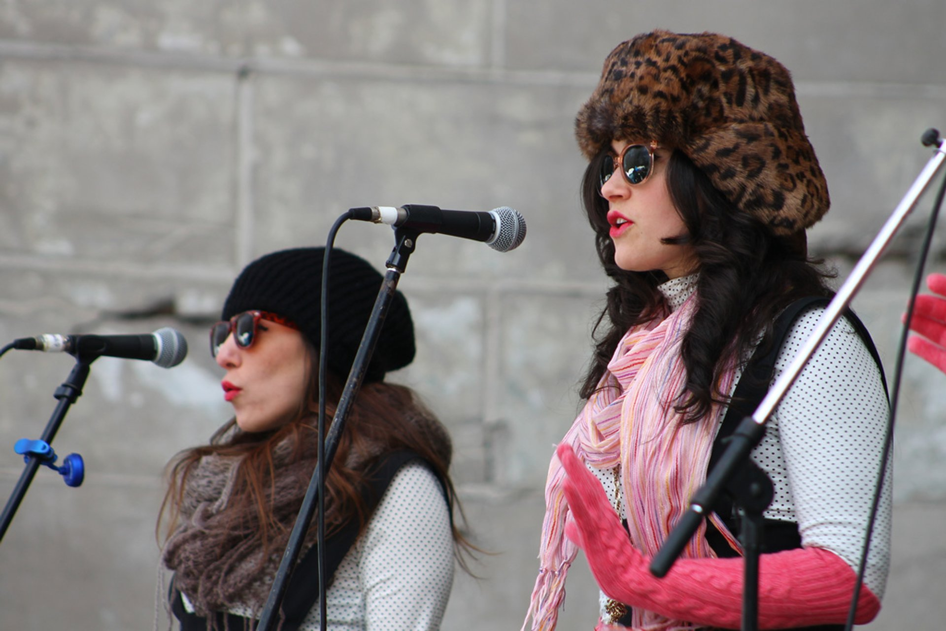 Lily and the Parlour Tricks performing during the Winter Jam in Central Park 2020