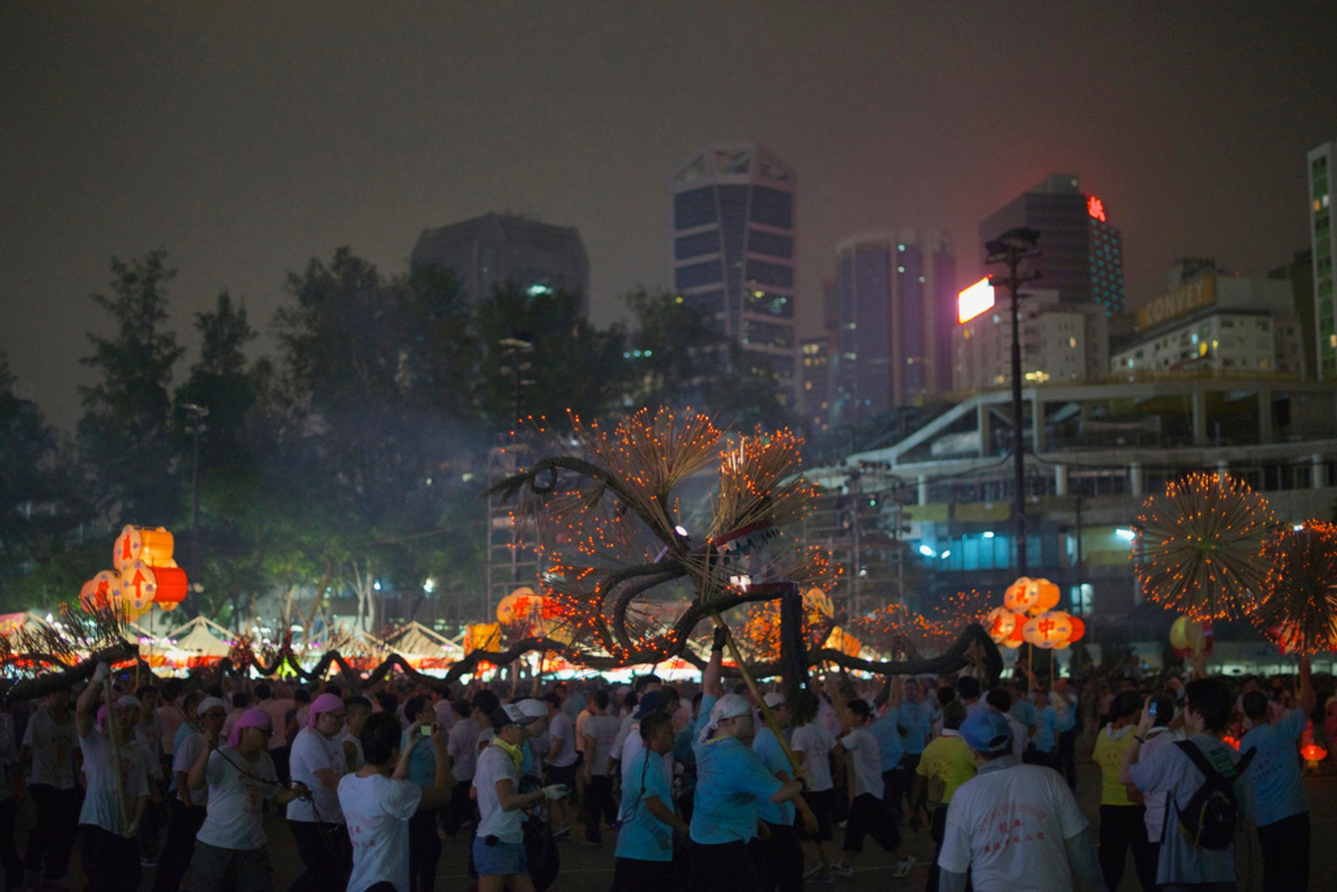 Incense Dragon, Mid-autumn festival in Hong Kong 2020