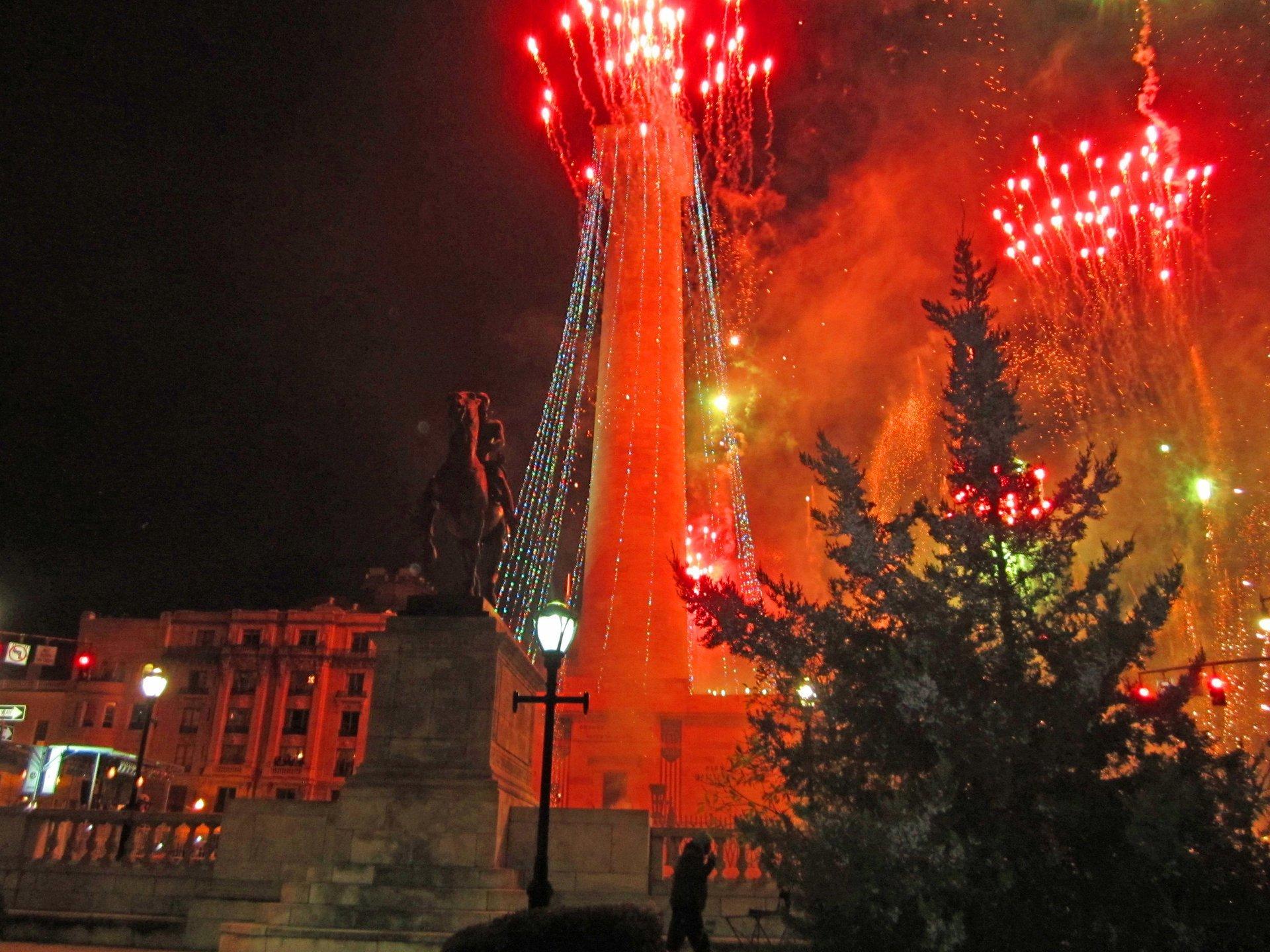Fireworks during Monument Lighting 2020