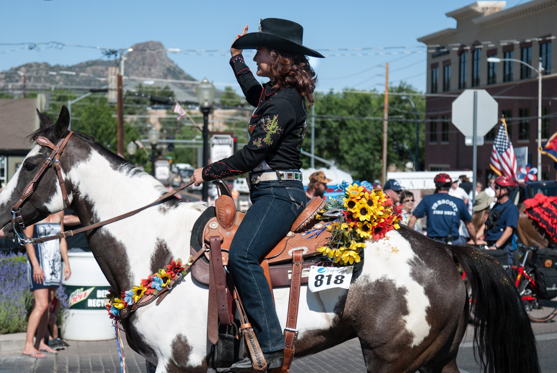 Rodeo Queen at Prescott 4th of July parade 2020