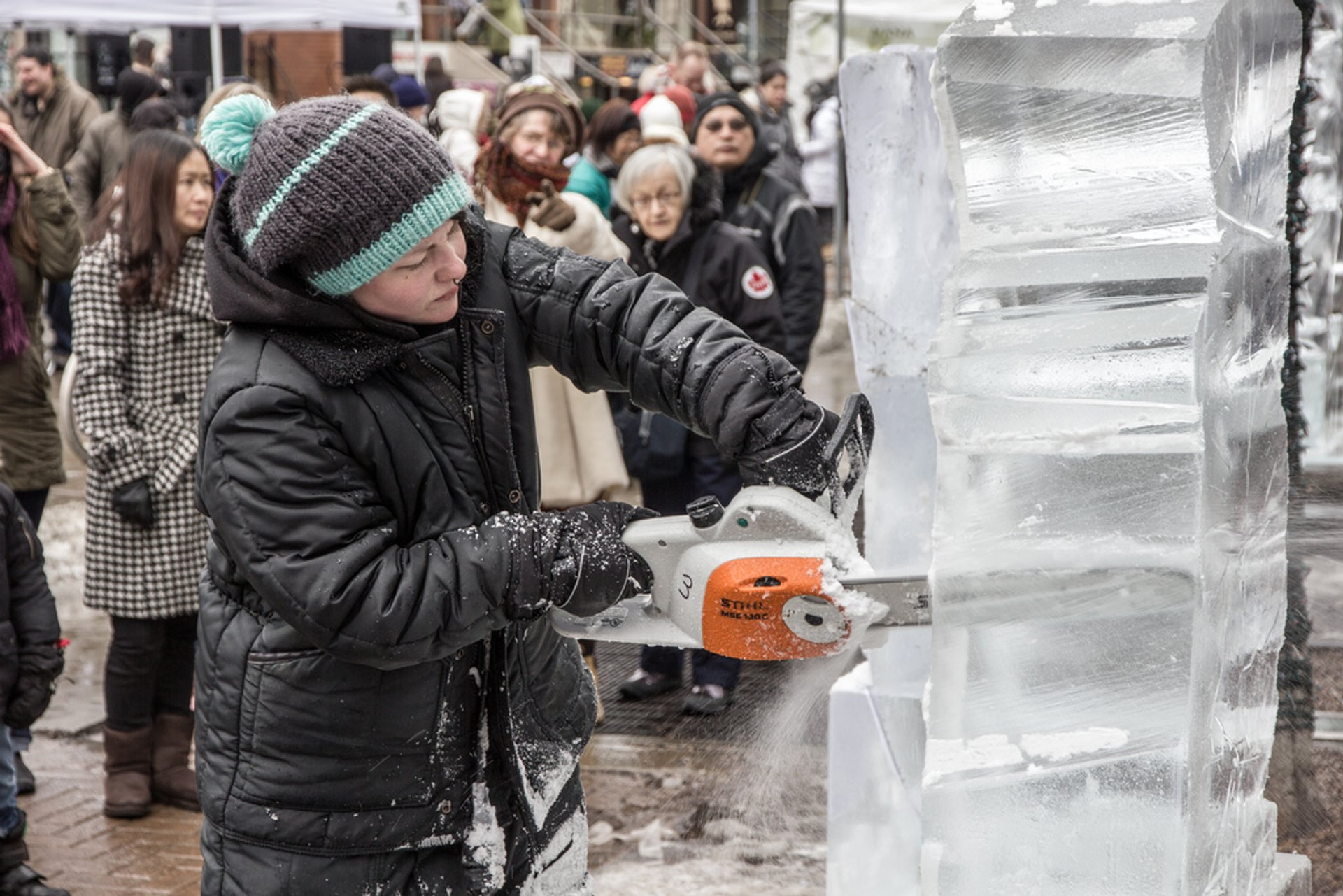 Best time to see Bloor-Yorkville Icefest in Toronto