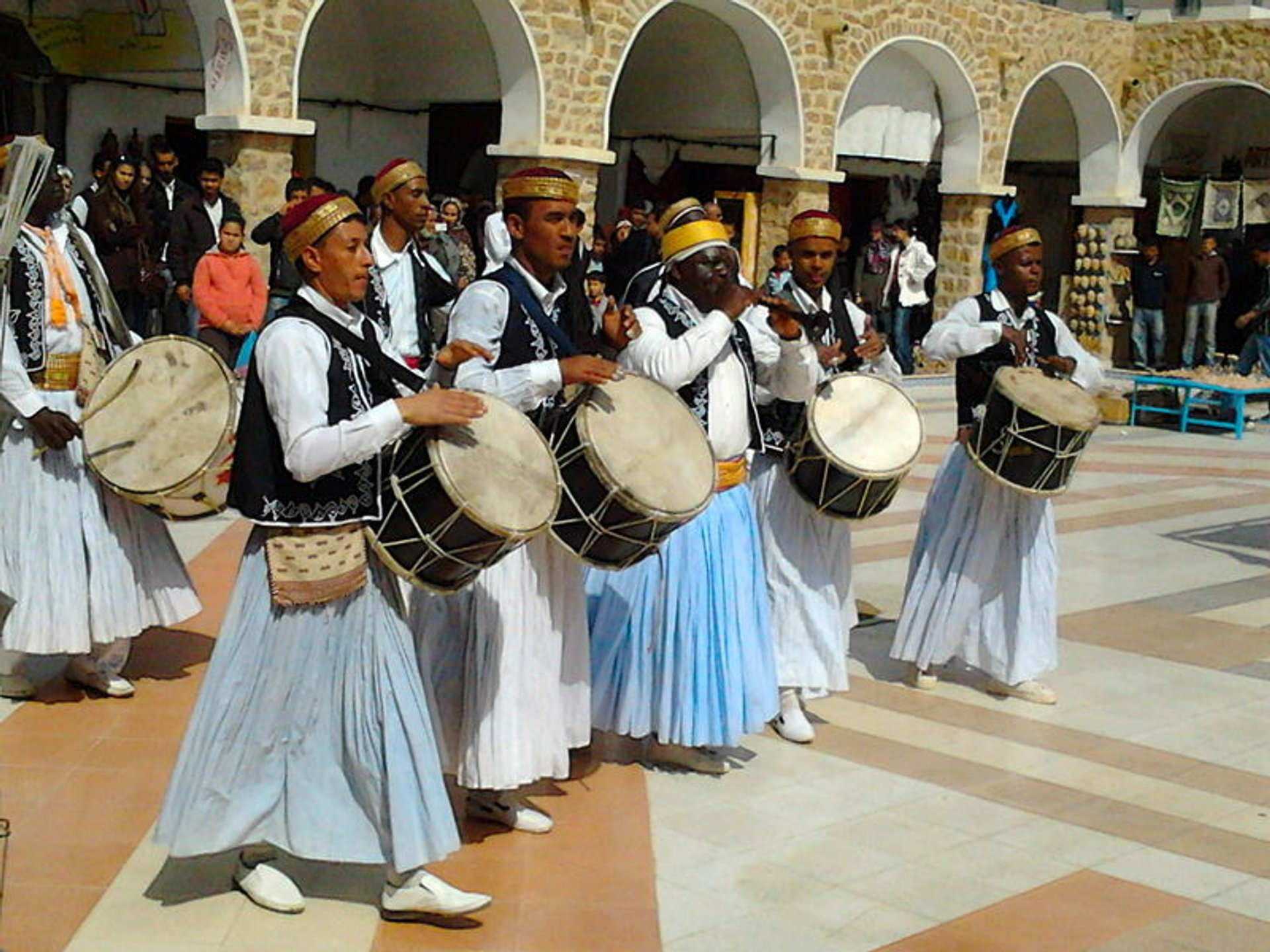 Band consists of drummers and Zukrah player in the old souk of Tataouine, on the occasion of Tataouine's festival 2020