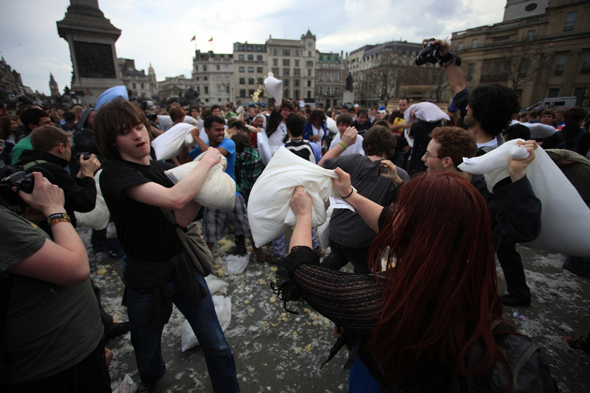 Best time for International Pillow Fight Day in London 2020