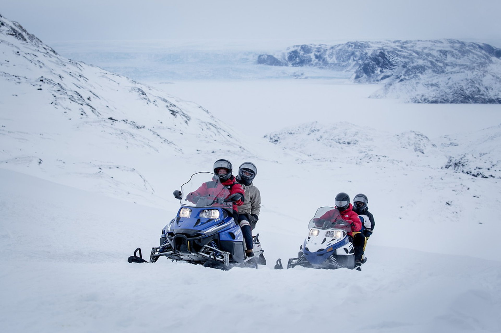 A snowmobile ride with PGI Greenland in the Ilulissat backcountry in Greenland 2019