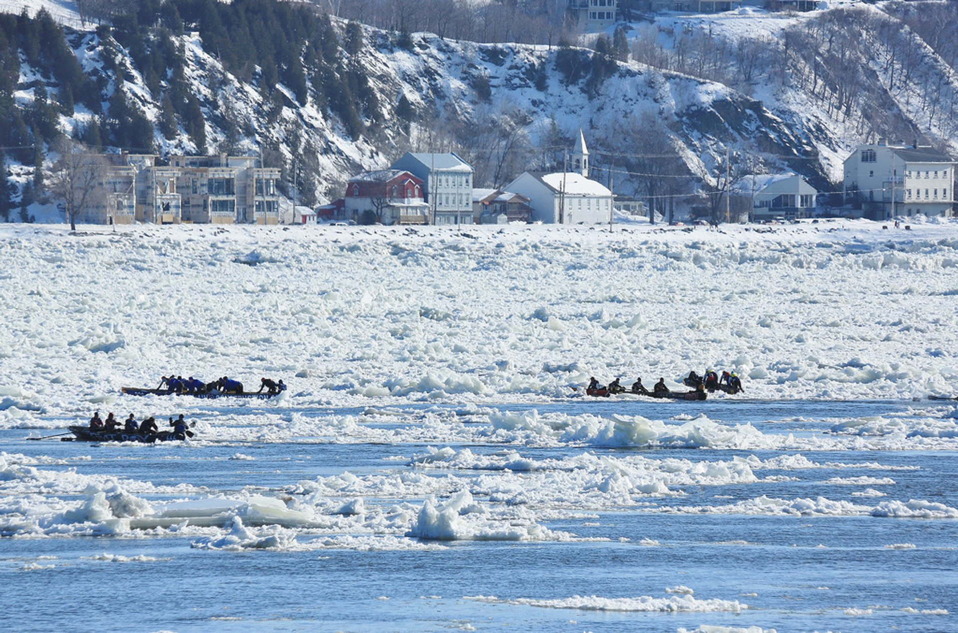 Quebec City Carnaval Canoe Race