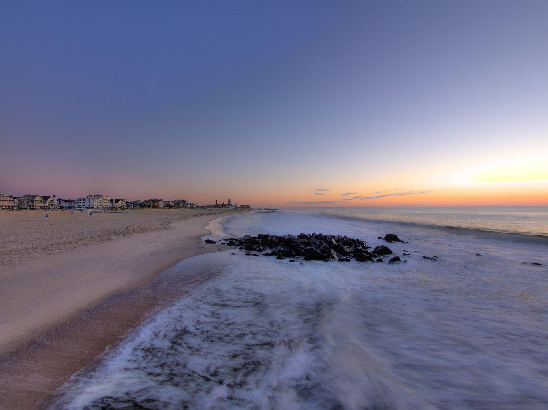 Dawn, Ocean Grove, with a view of Asbury Park 2020