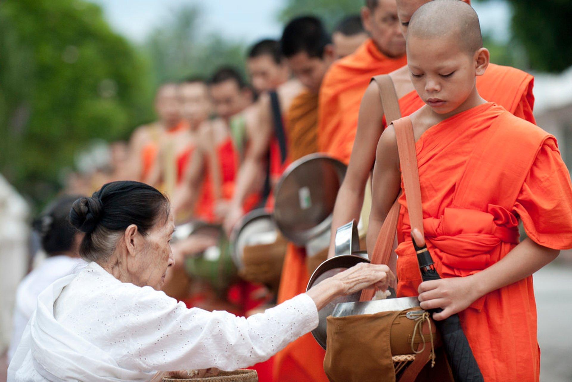 Boun Khao Pansa in Louangphabang Province, Laos 2020