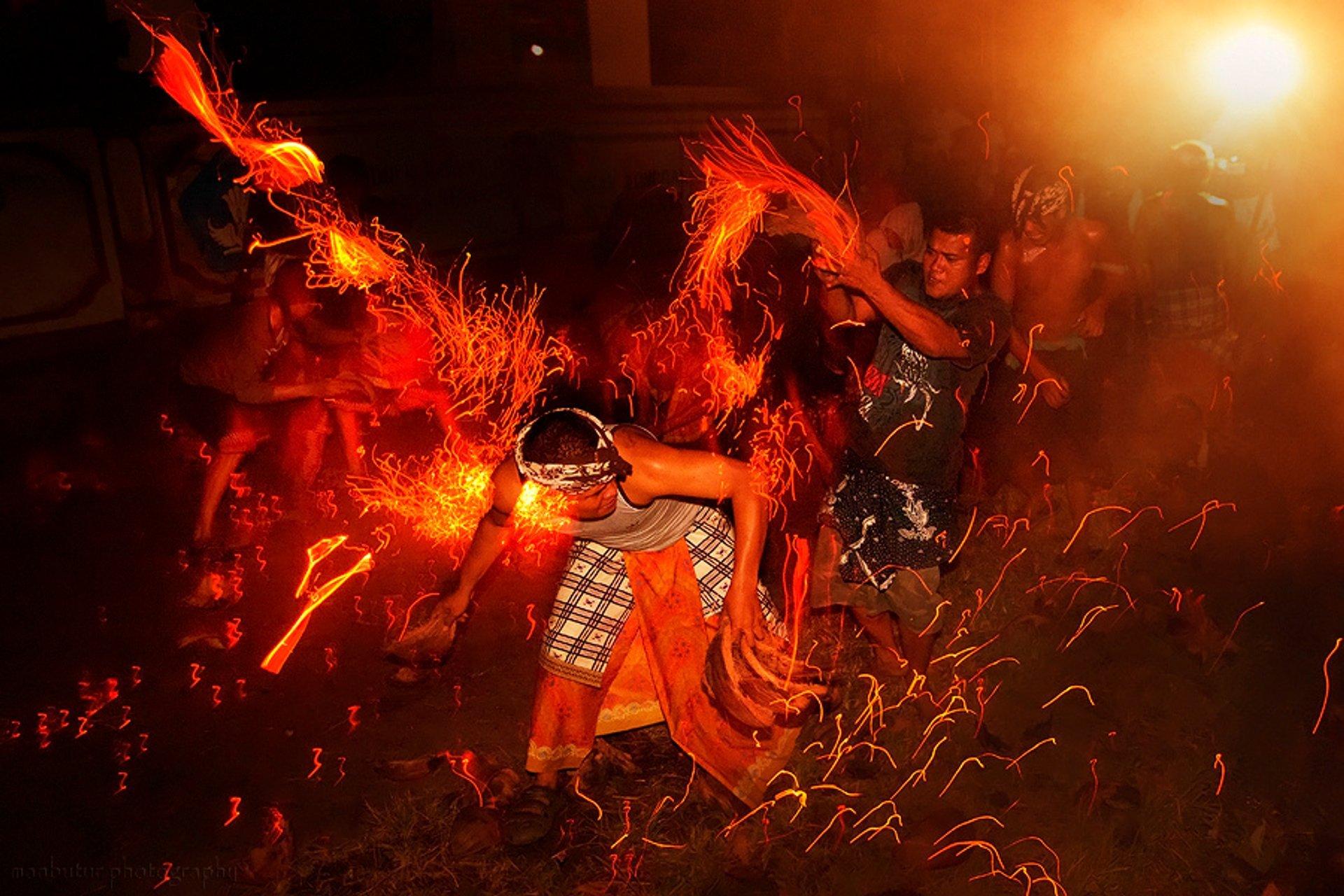 Perang Api in Bali - Best Time