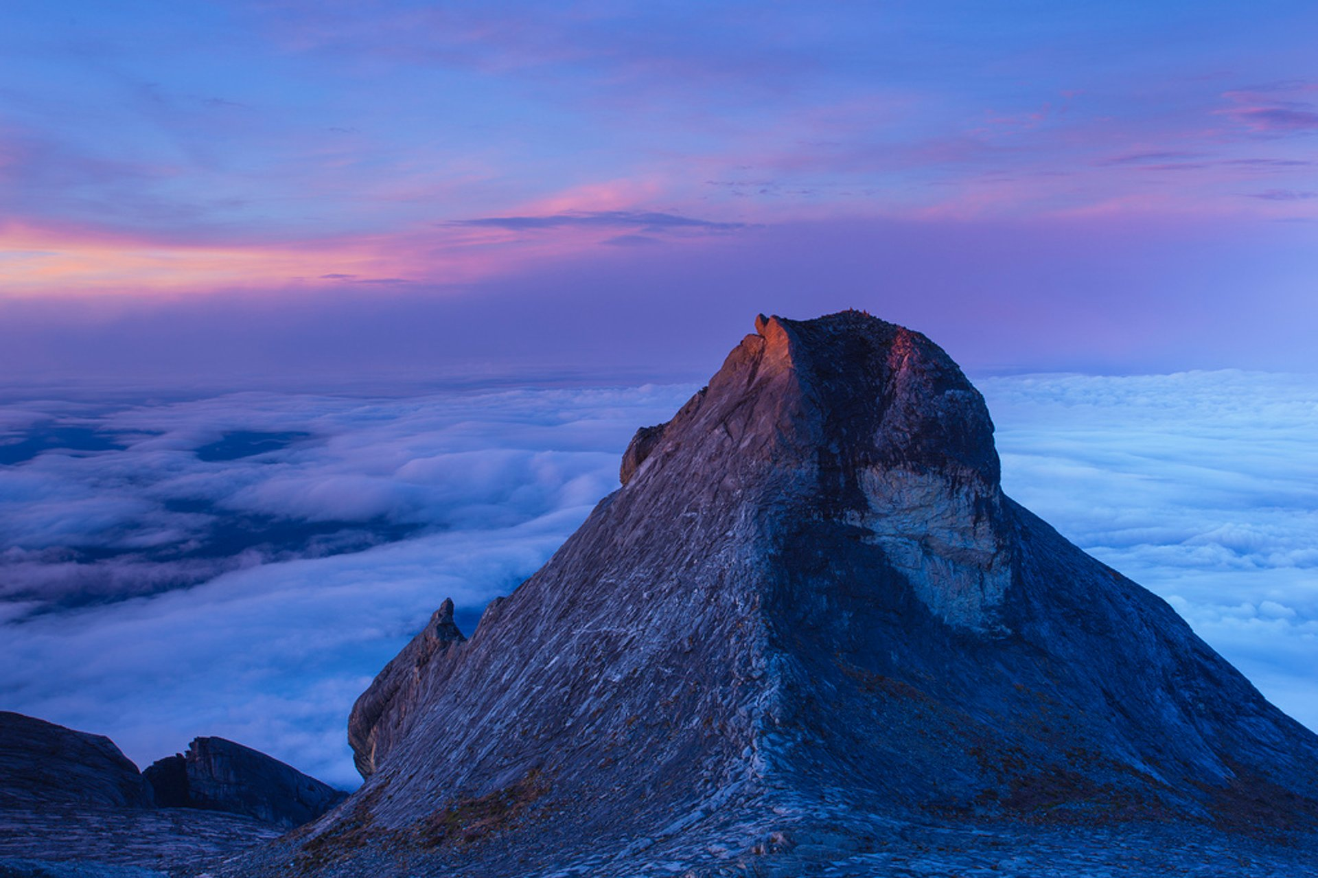 One way to define a stunning view is seeing this at sunrise, on the top of mount Kinabalu 2019