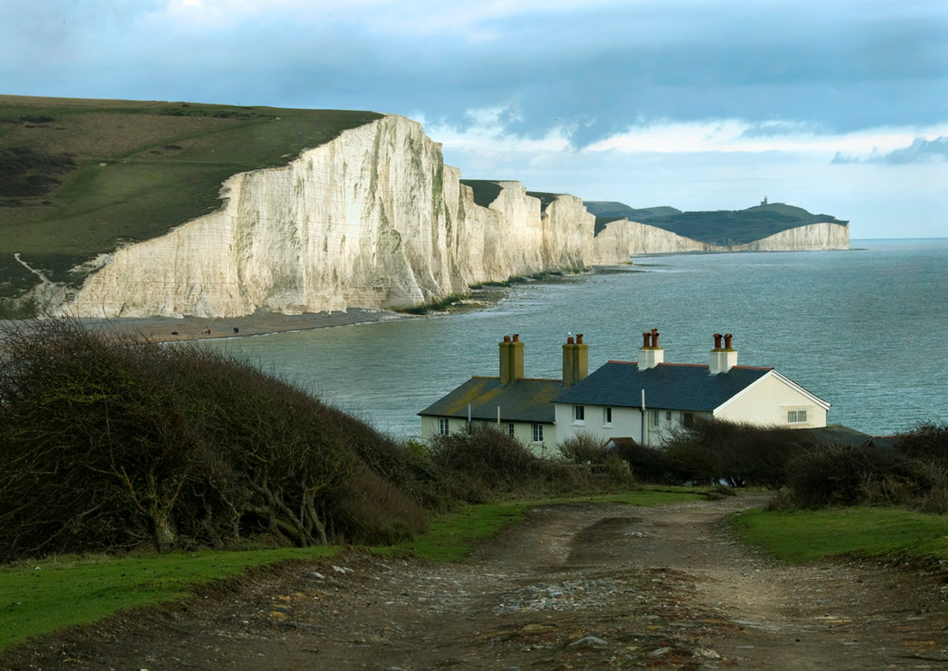 Seven Sisters' famous view from the coastguard cottages 2020