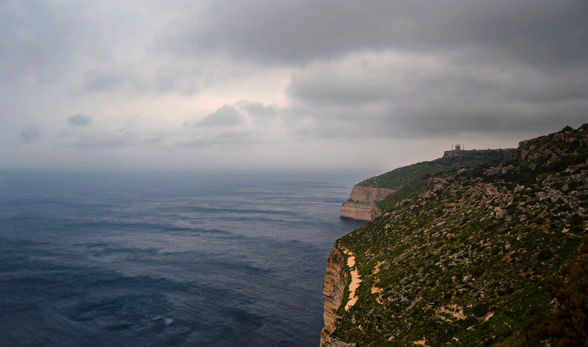 Best time for Hiking in Malta in Malta 2019