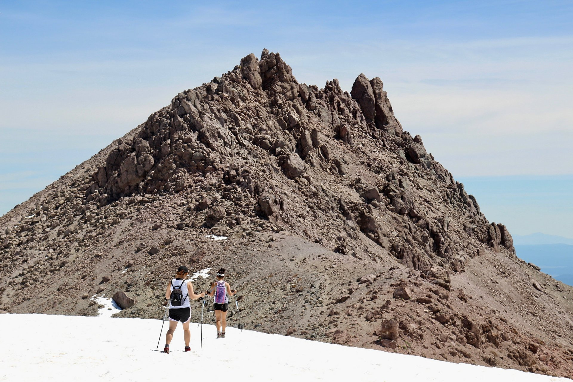 Hikers heading to top of Lassen Peak 2019