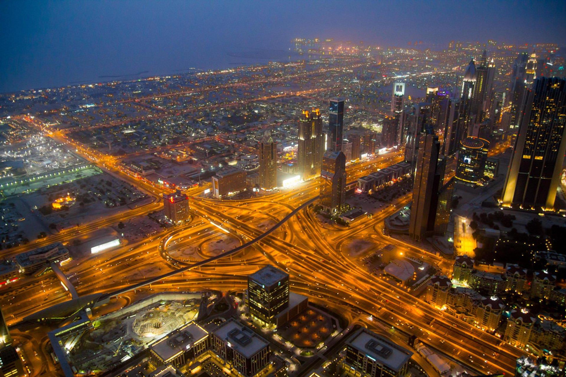 View from Burj Khalifa 2020