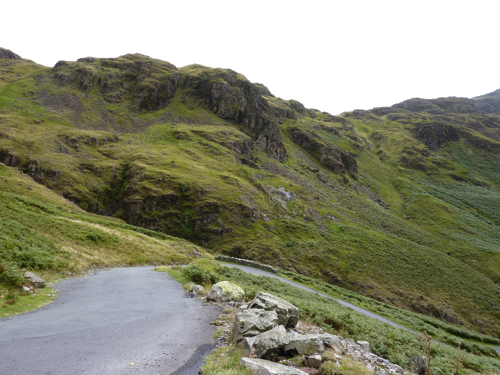 Probably the steepest part of the western side of Hardknott Pass 2020