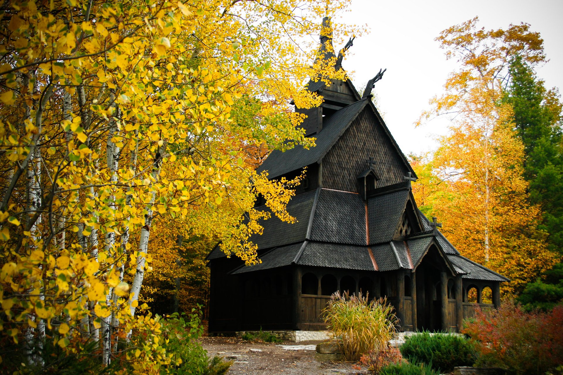 Stavkirke on Washington Island, Door County, Wisconsin 2020