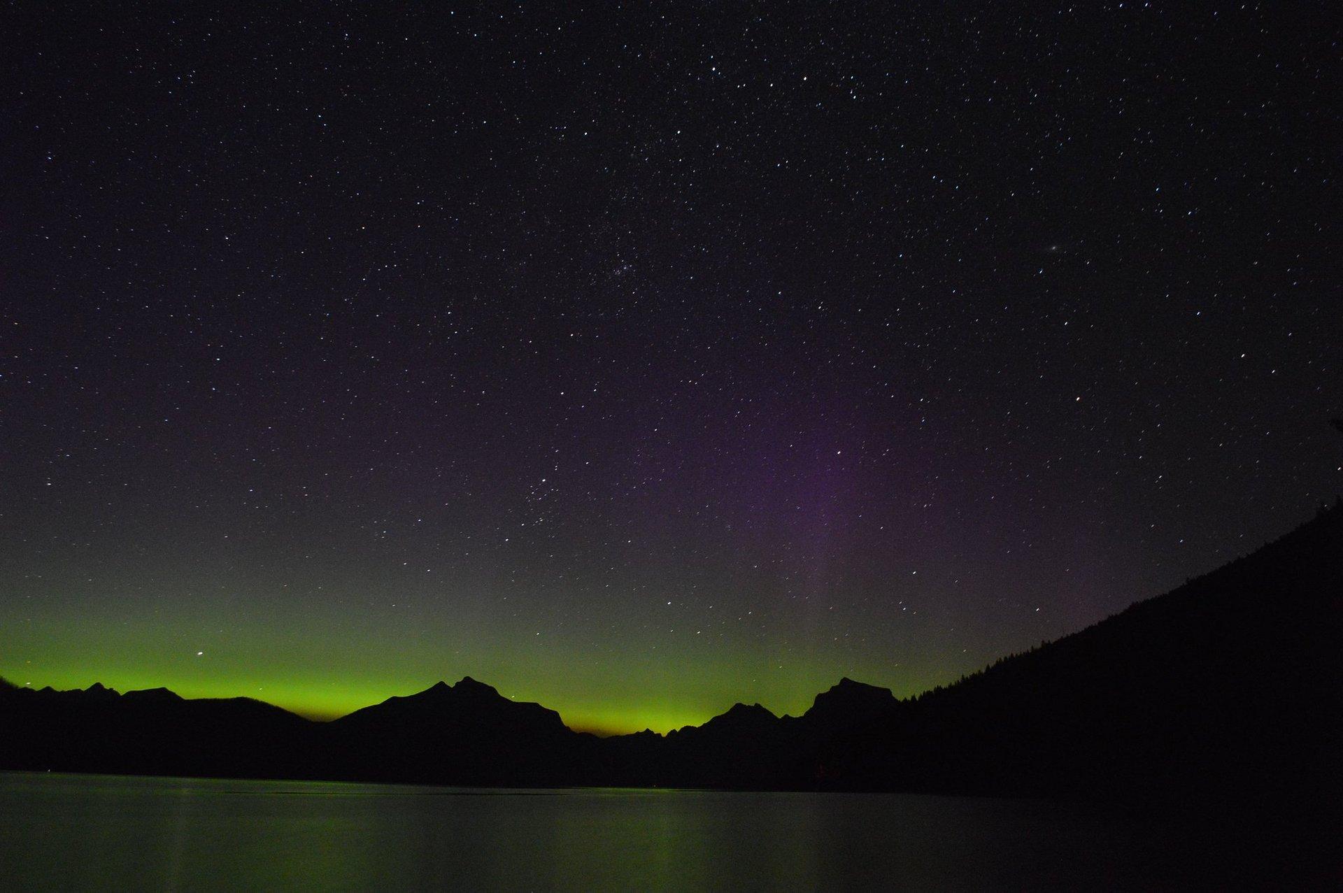 Northern Lights over Lake McDonald 2020