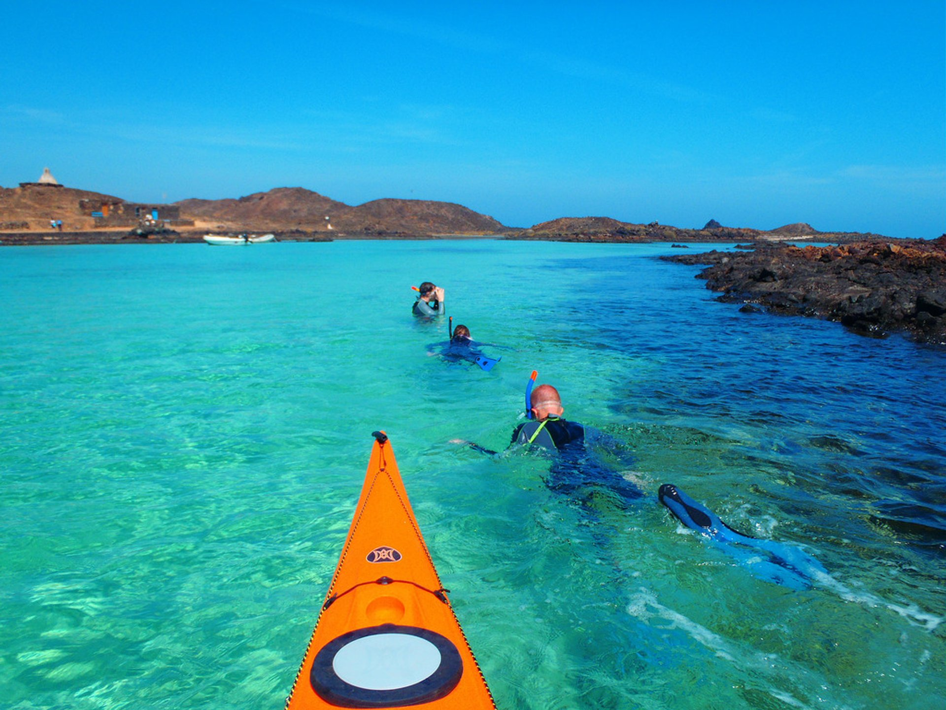 Kayaking and snorkeling around Lobos Island, off the coast of Fuerteventura 2020