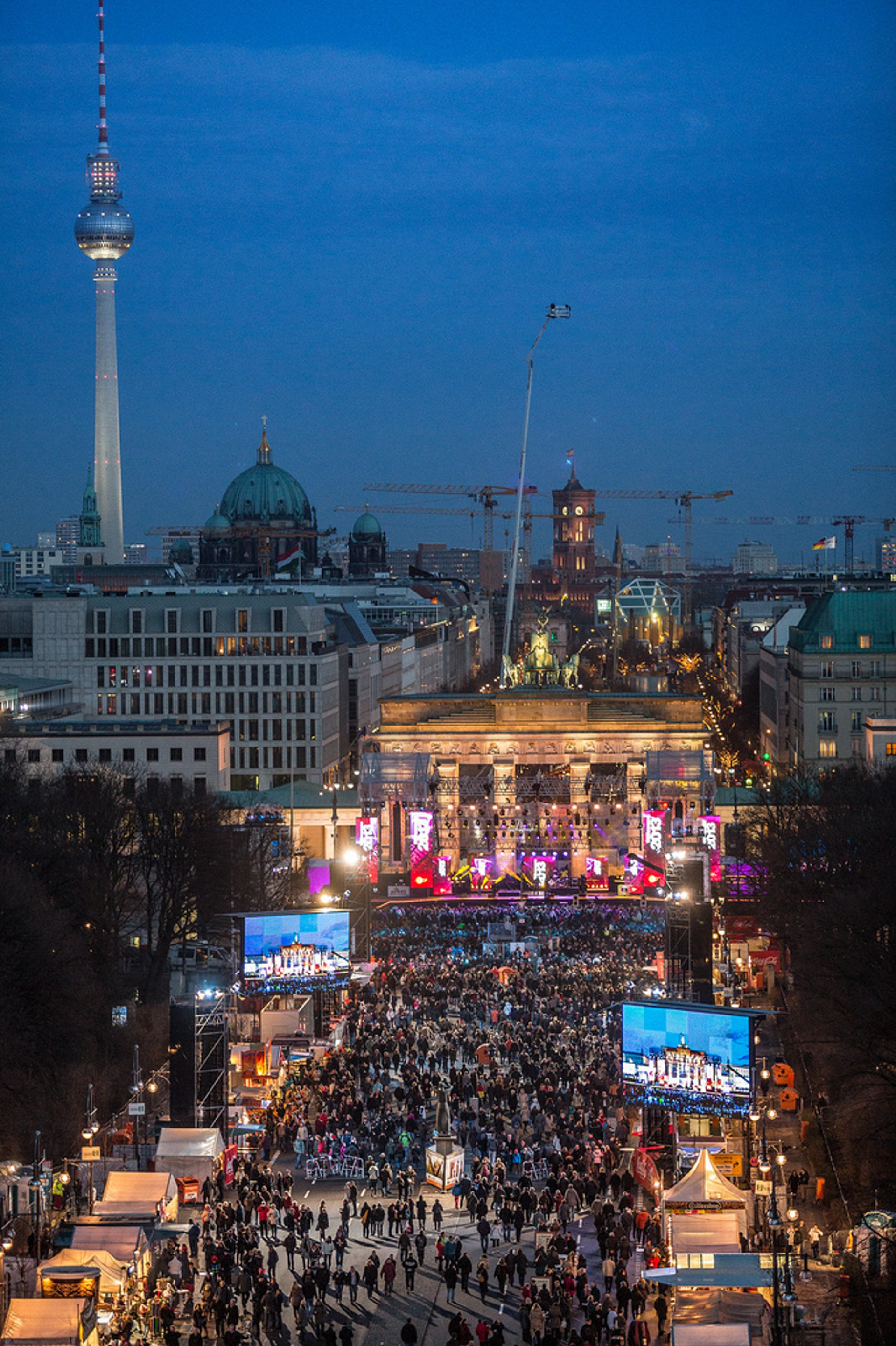 New Year's Eve at Brandenburg Gate 2020