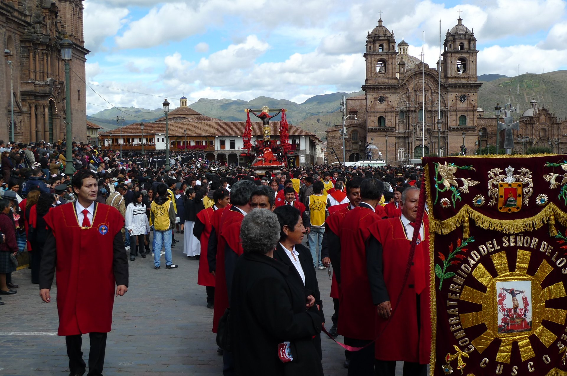 Procession of Senor de Los Temblores - Cusco, Peru 2019