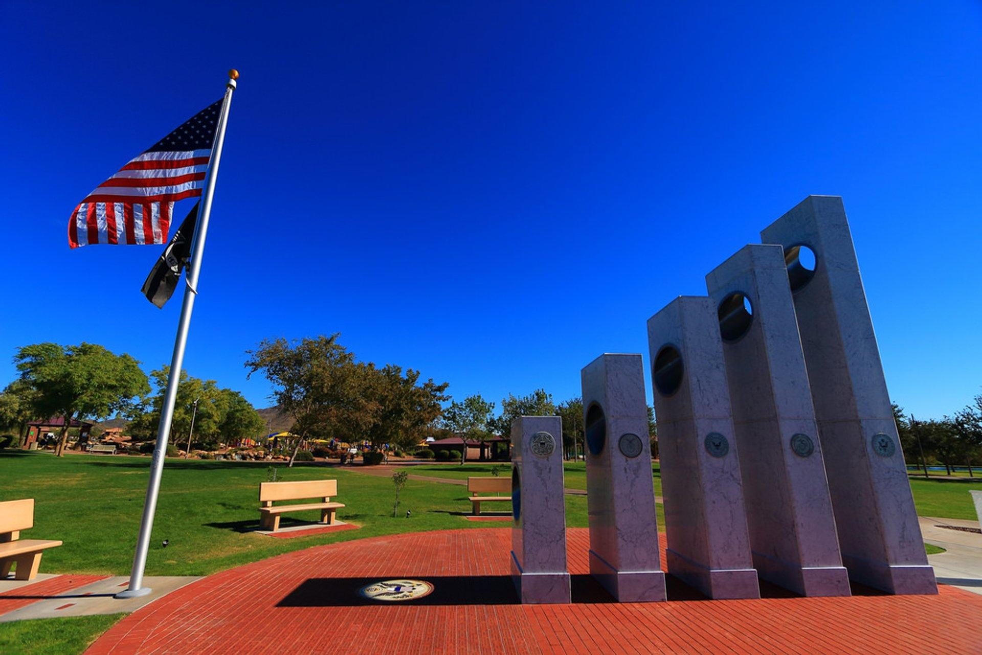 Solar Spotlight at the Anthem Veterans Memorial in Arizona 2020 - Best Time