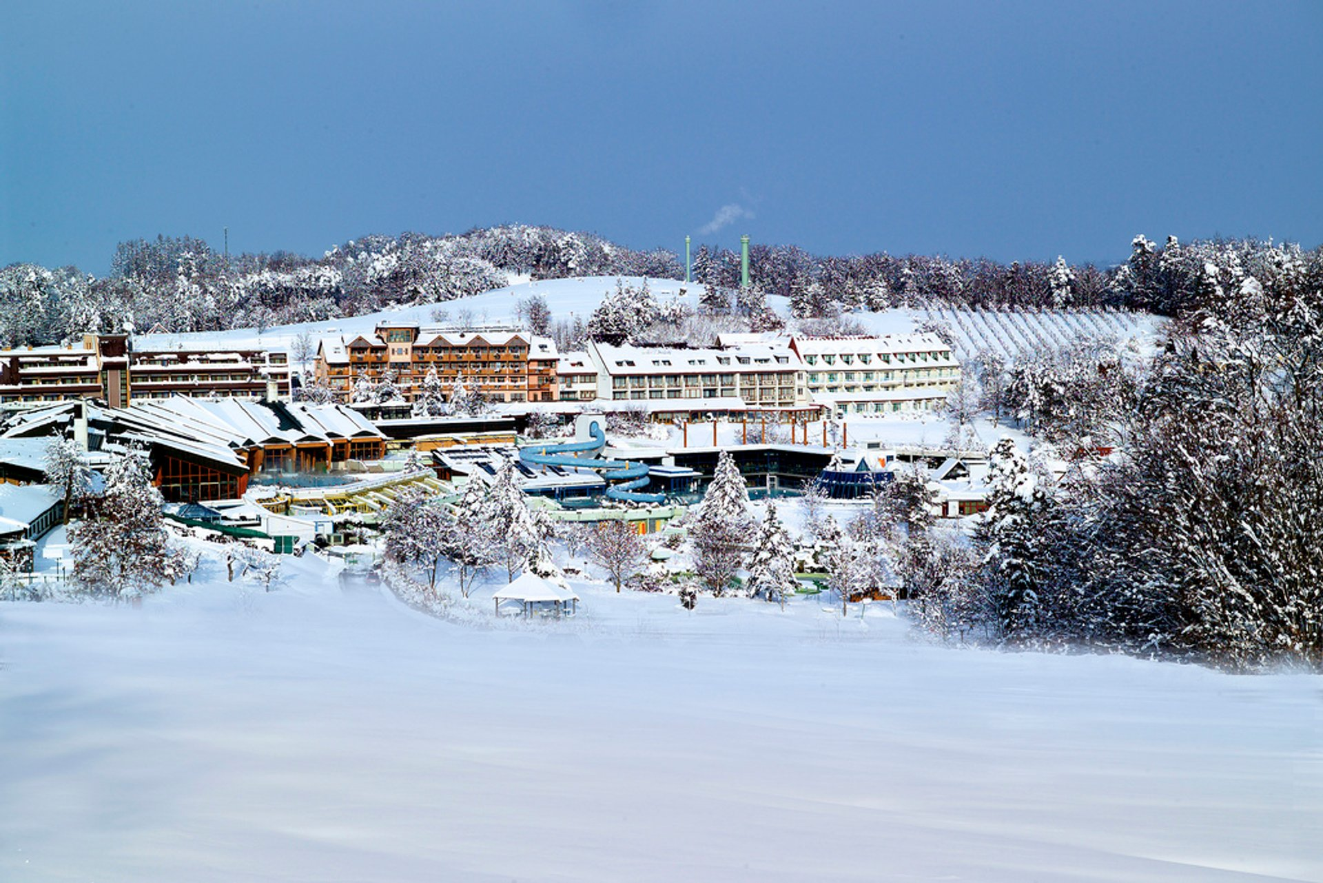 Therme Loipersdorf in winter 2019