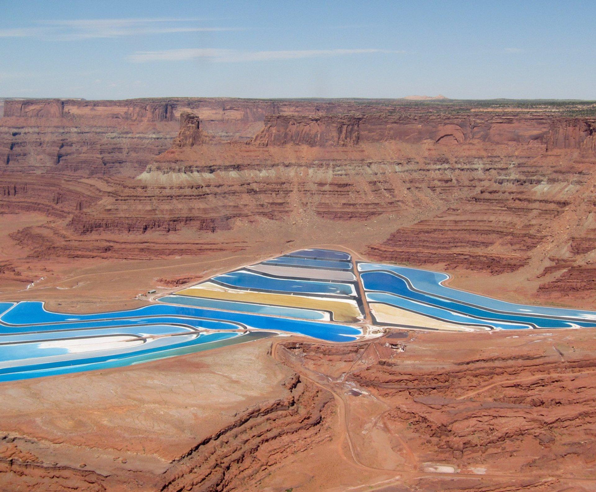 Potash Evaporation Ponds in Utah - Best Time